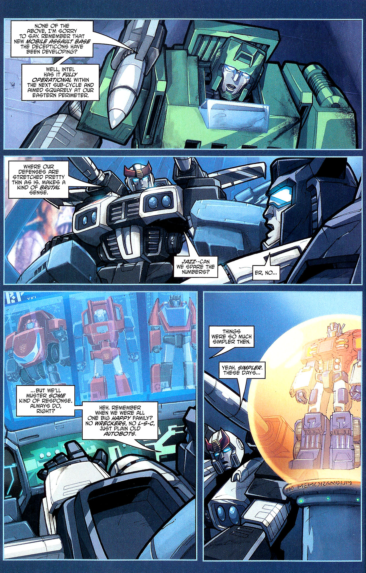 "Read online Transformers War Within: ""The Dark Ages"" comic -  Issue #1 - 13"