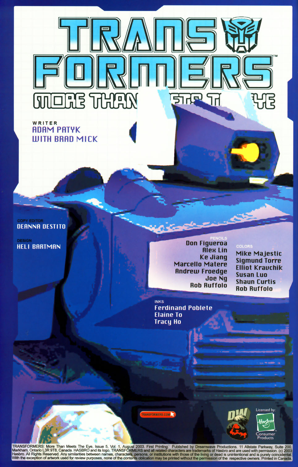 Read online Transformers: More than Meets the Eye comic -  Issue #5 - 2
