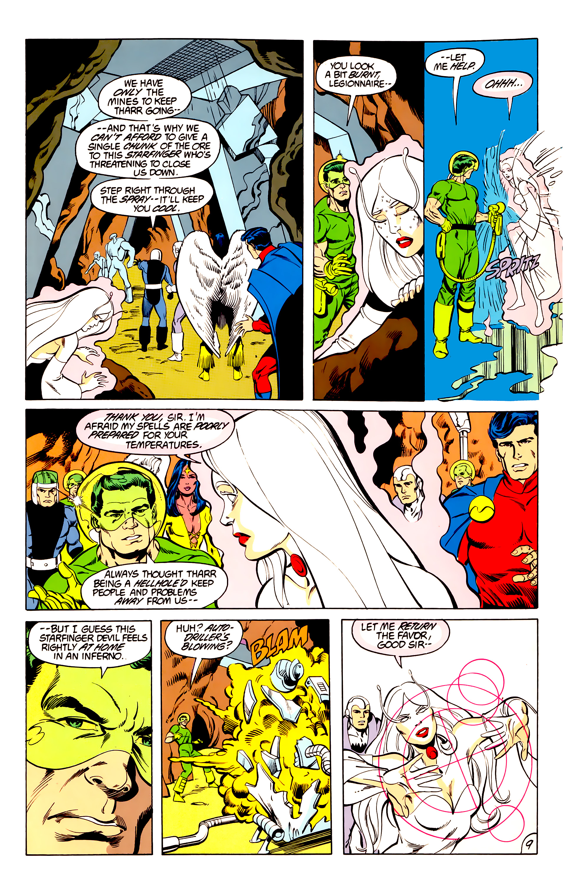 Legion of Super-Heroes (1984) 40 Page 9