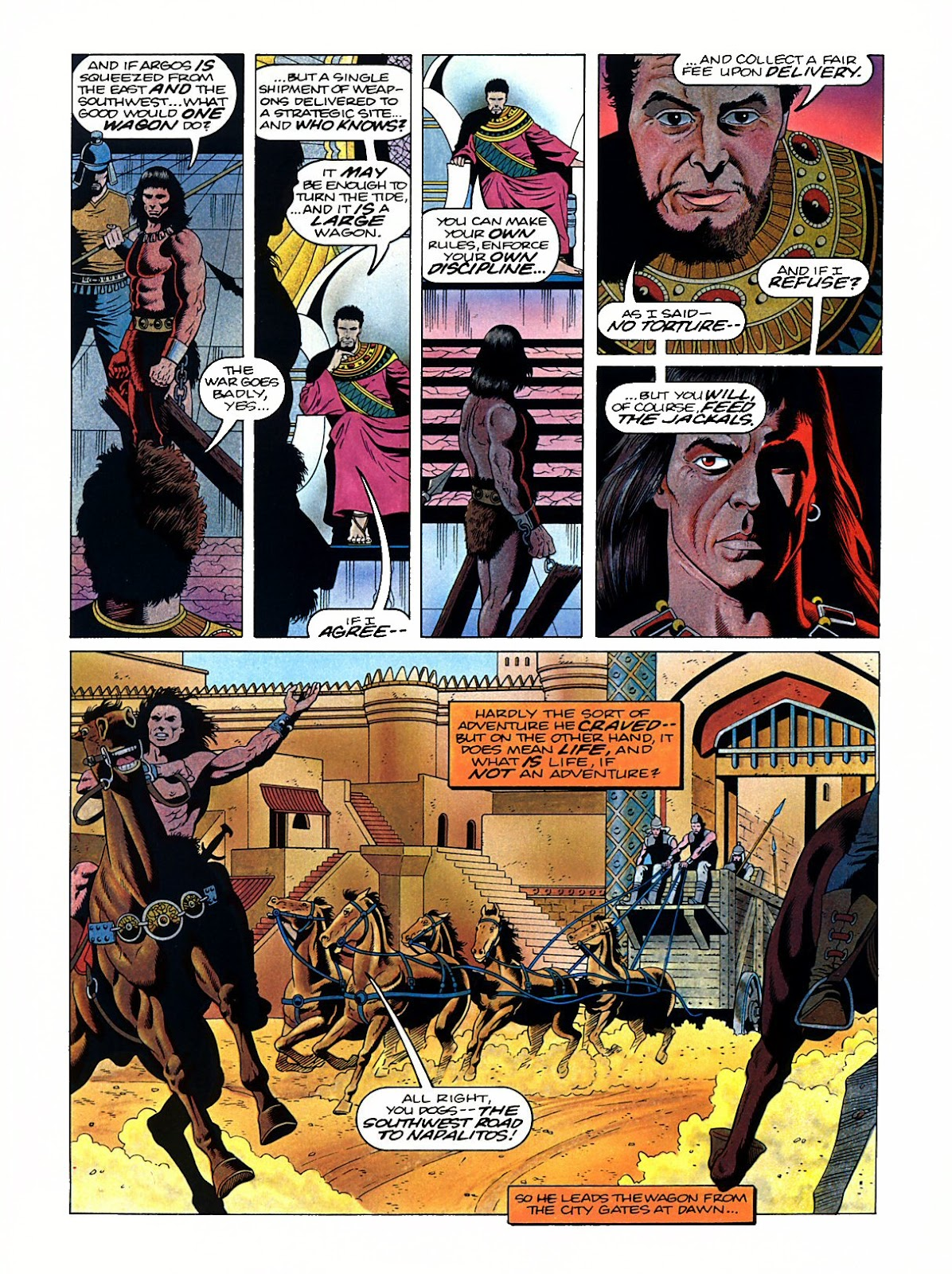 Read online Marvel Graphic Novel: Conan the Barbarian: The Skull of Set comic -  Issue # Full - 9