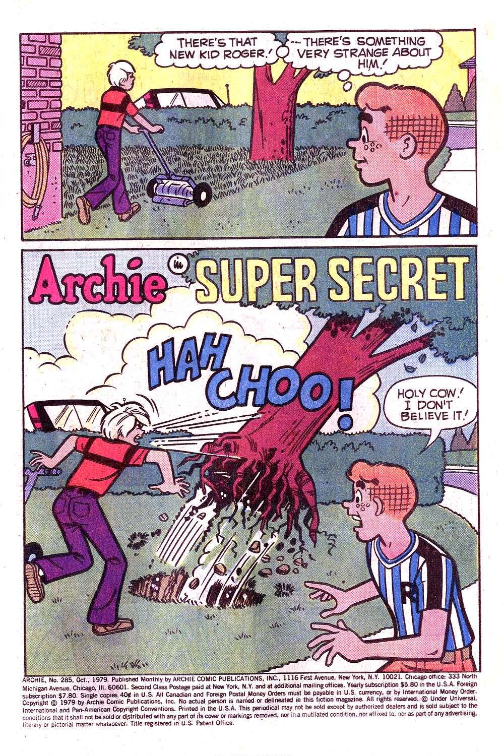 Read online Archie (1960) comic -  Issue #285 - 3