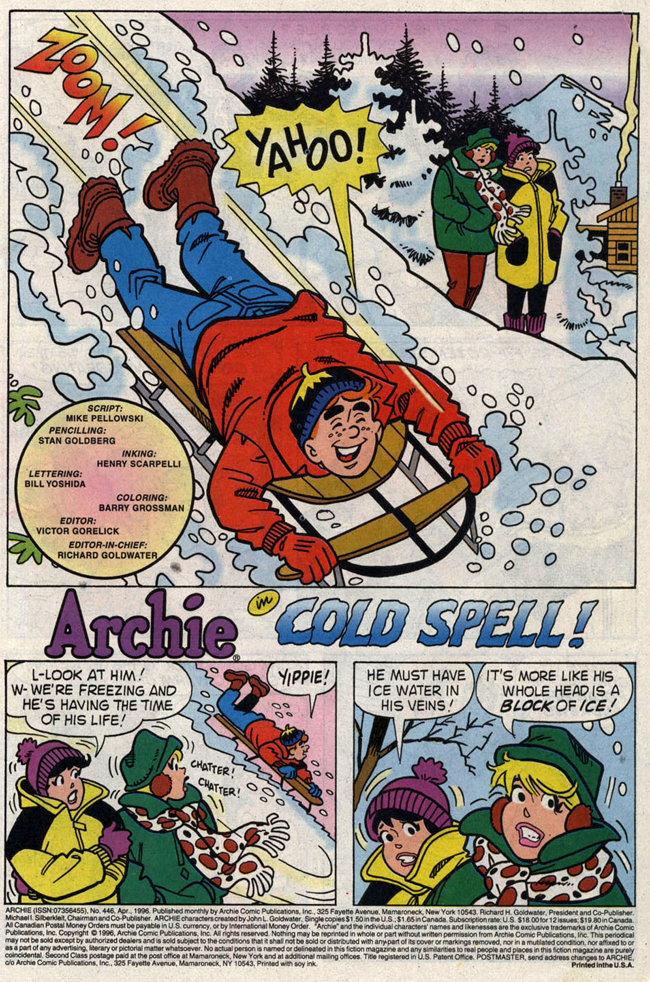 Read online Archie (1960) comic -  Issue #446 - 3