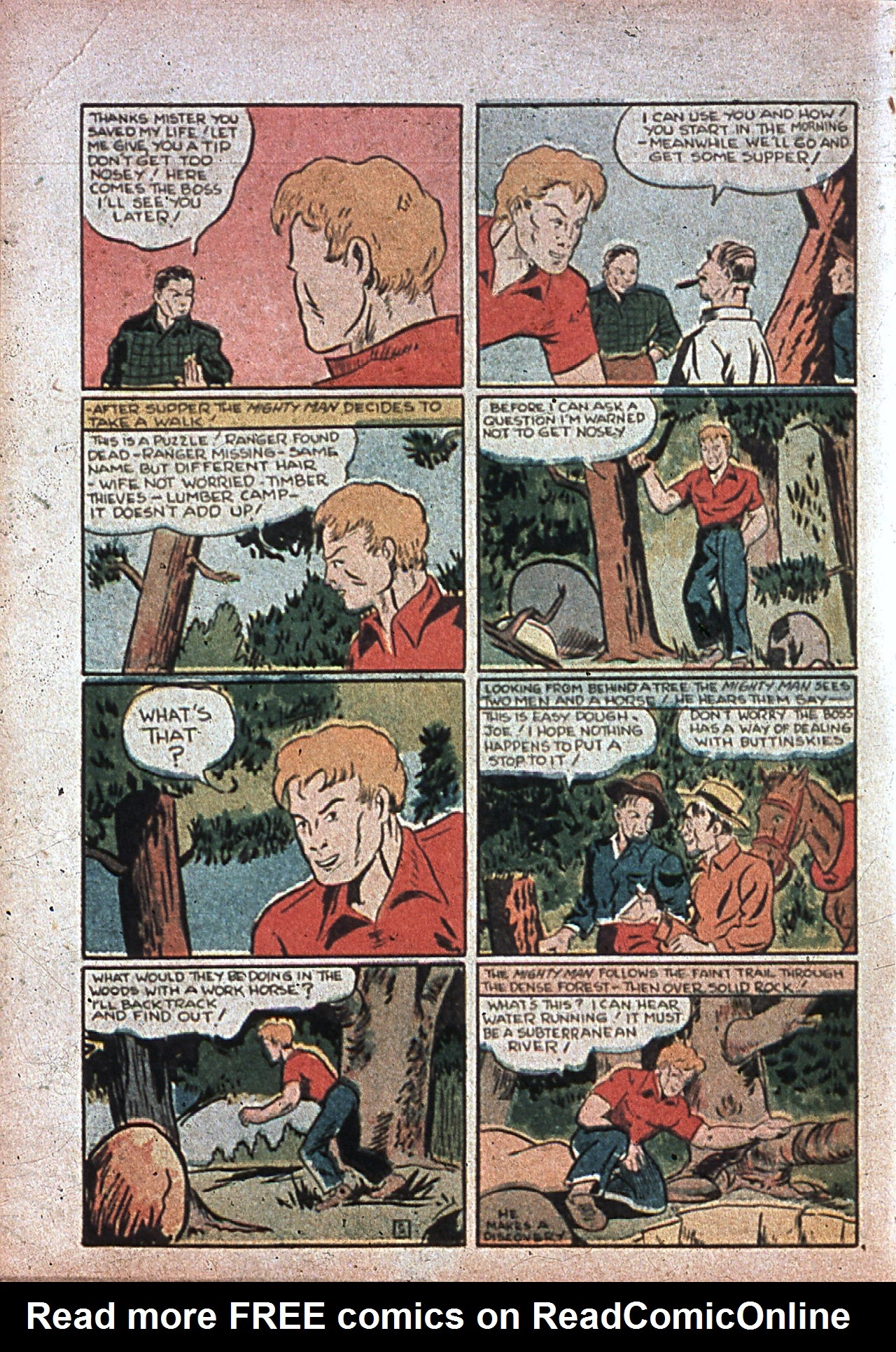 Read online Amazing Man Comics comic -  Issue #7 - 57