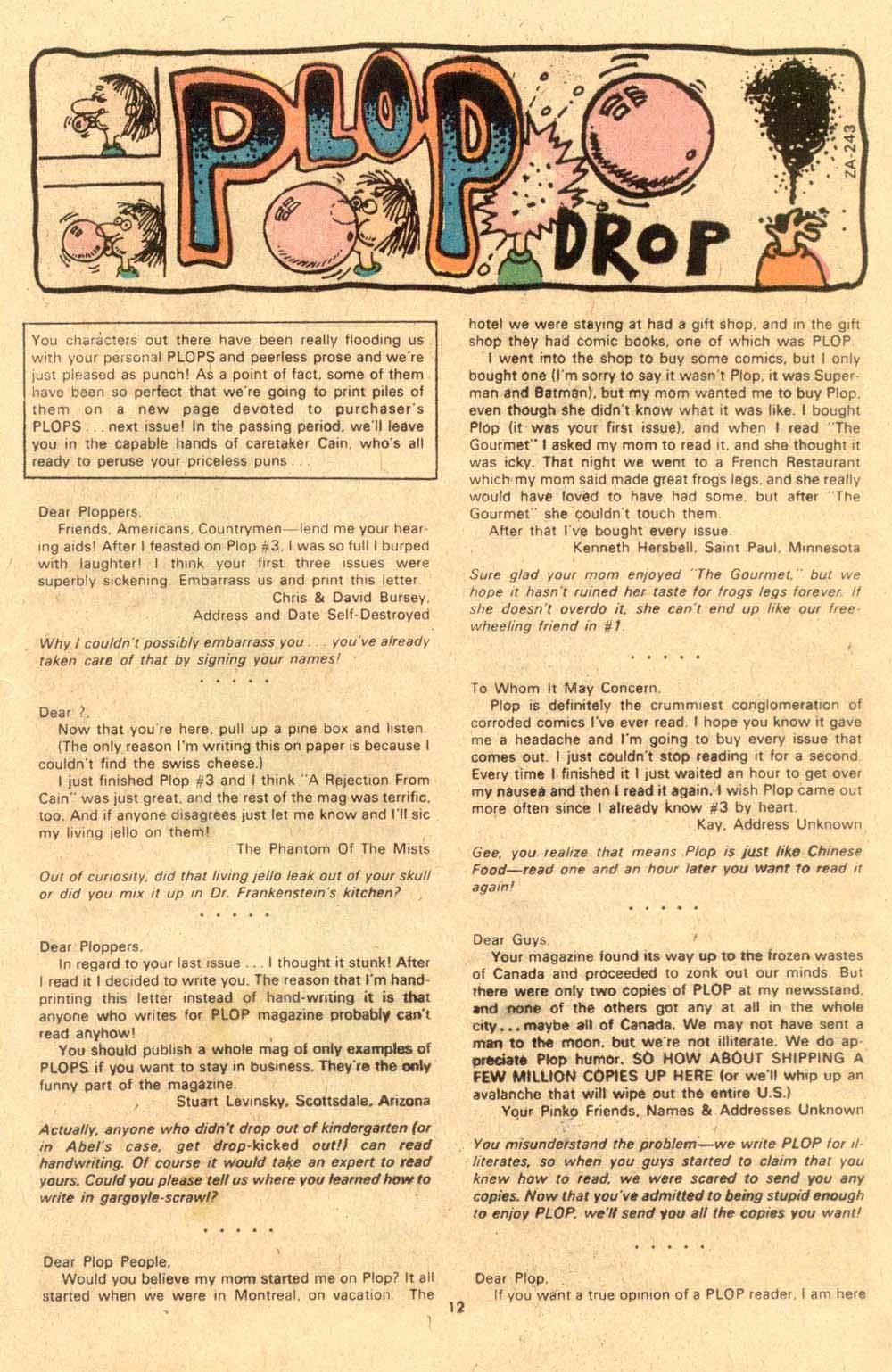 Read online Plop! comic -  Issue #6 - 13