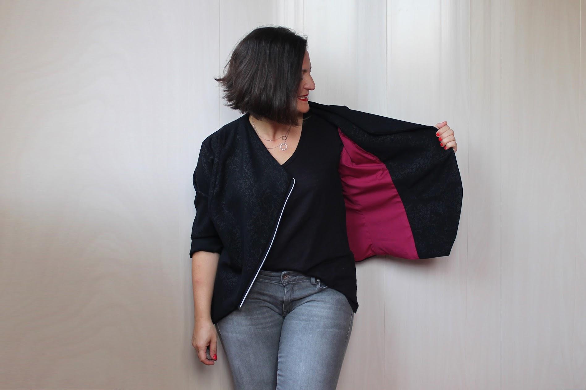 renkli astar, ceket dikişi, dikiş blog, kendin dik
