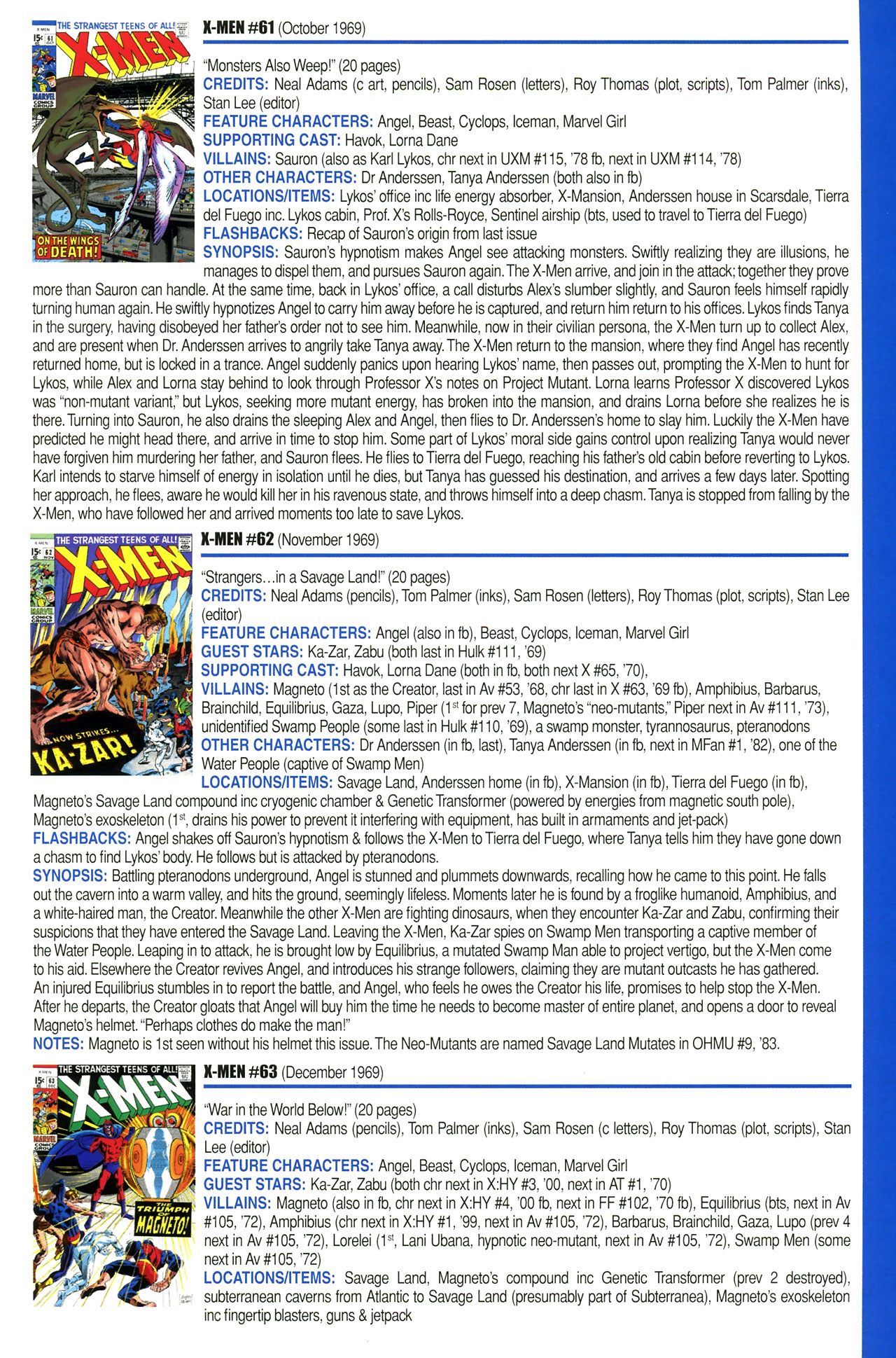 Read online Official Index to the Marvel Universe comic -  Issue #2 - 51