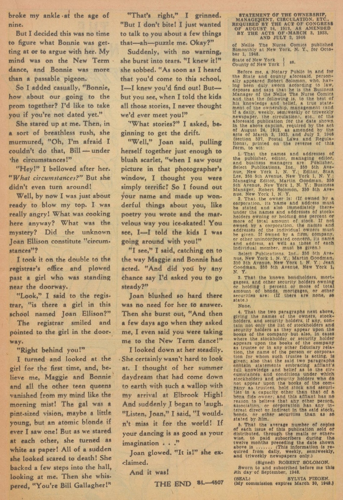 Read online Nellie The Nurse (1945) comic -  Issue #18 - 25