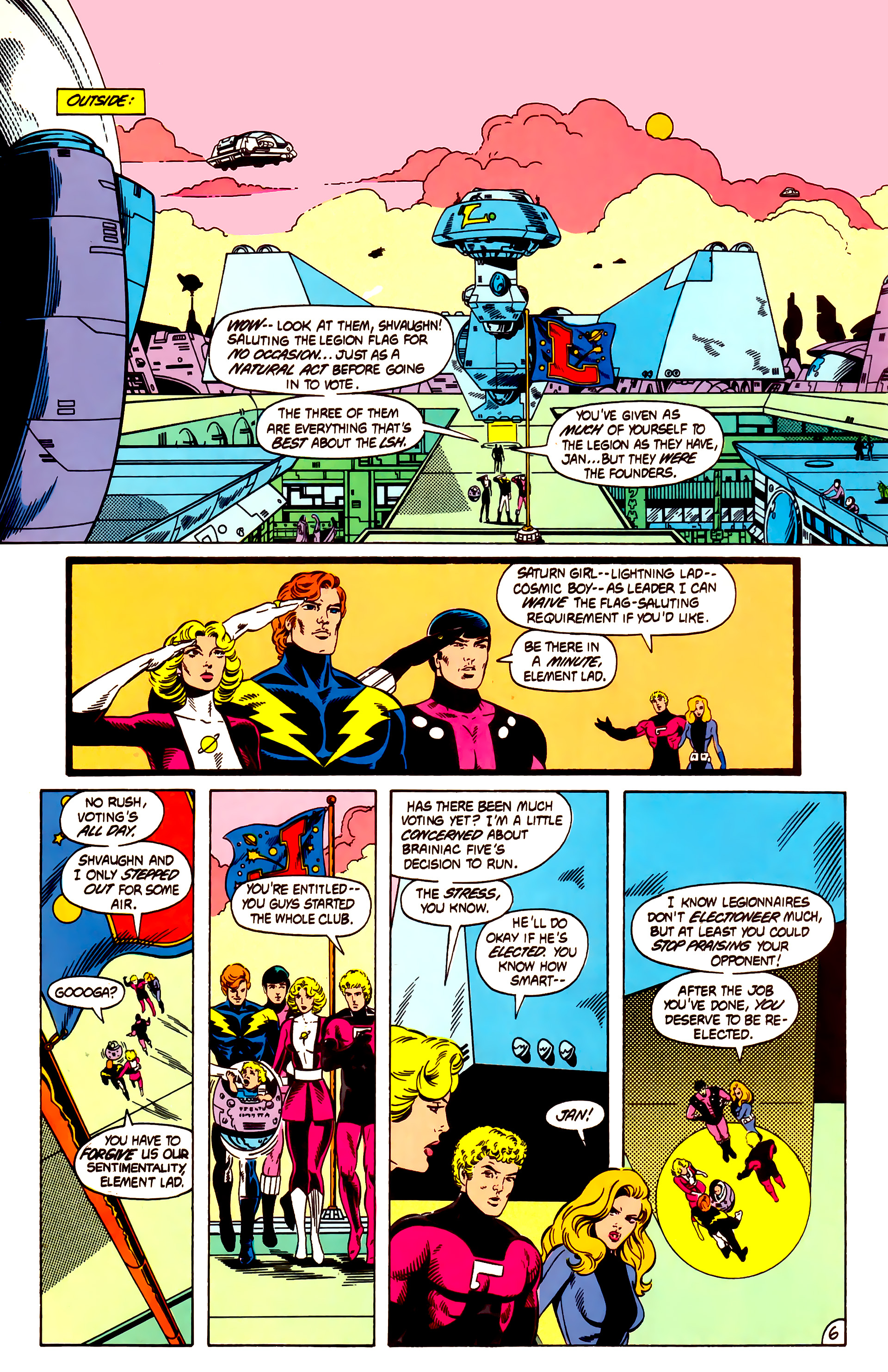 Legion of Super-Heroes (1984) 12 Page 6
