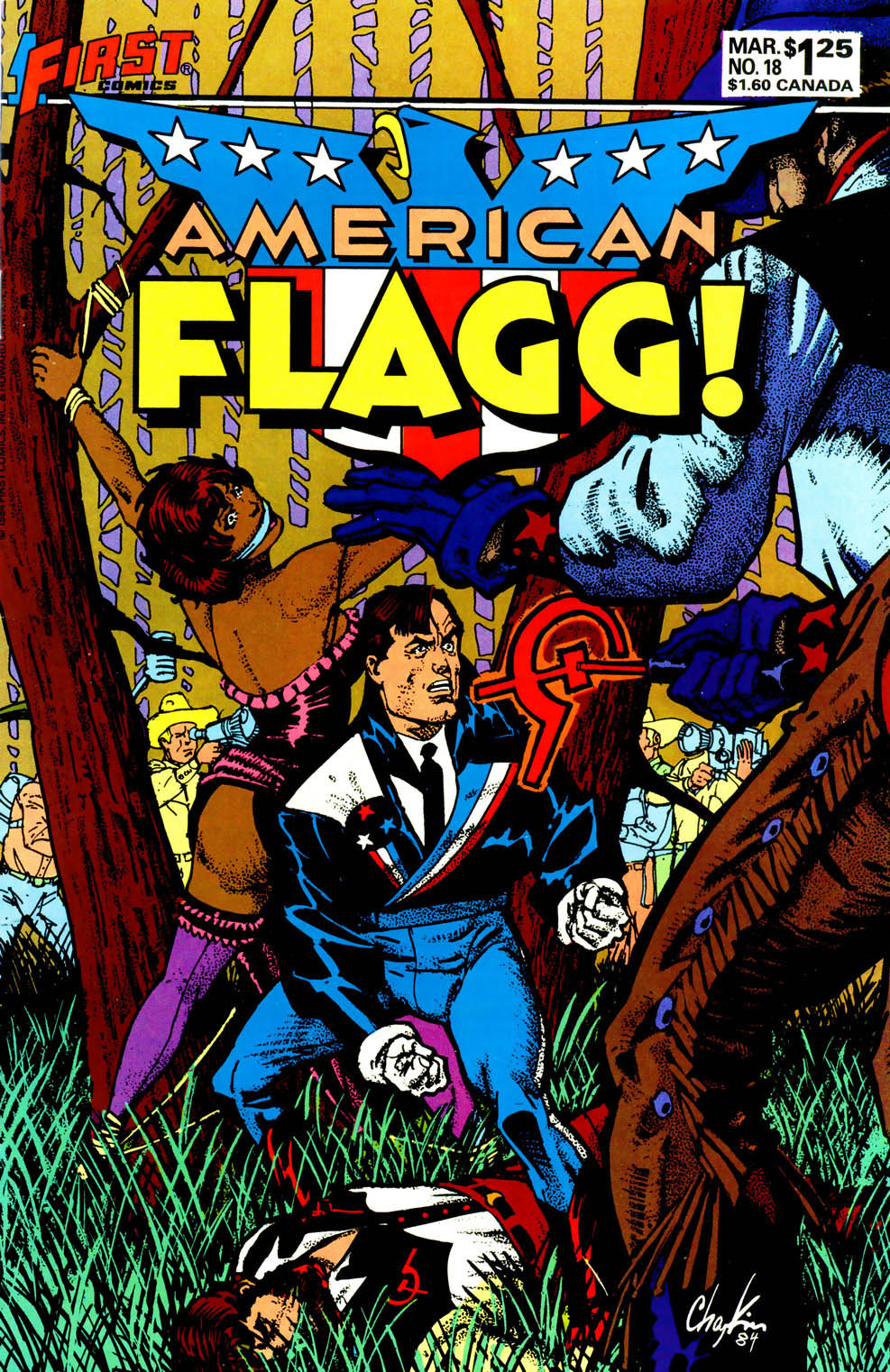Read online American Flagg! comic -  Issue #18 - 1