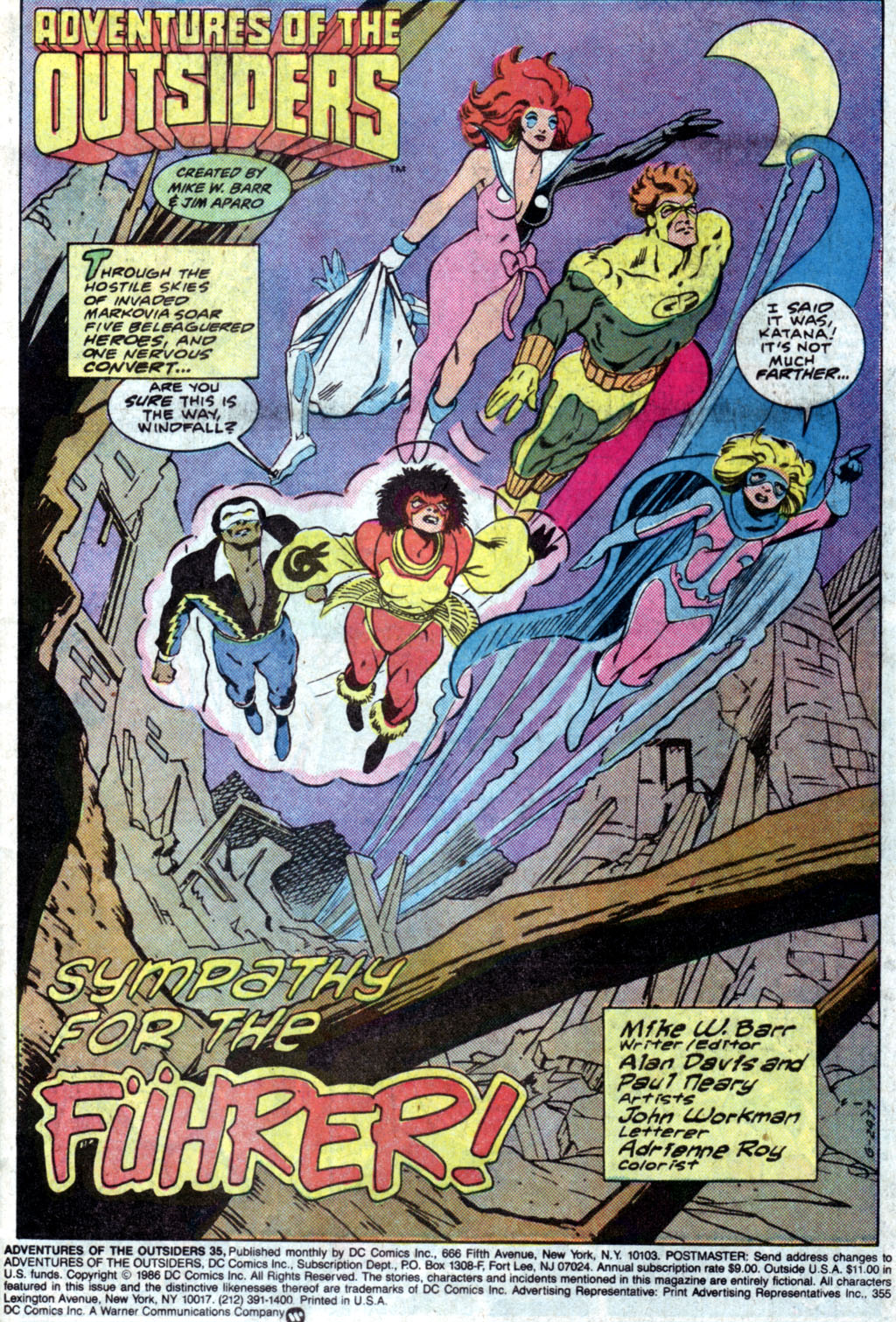 Read online Adventures of the Outsiders comic -  Issue #35 - 3