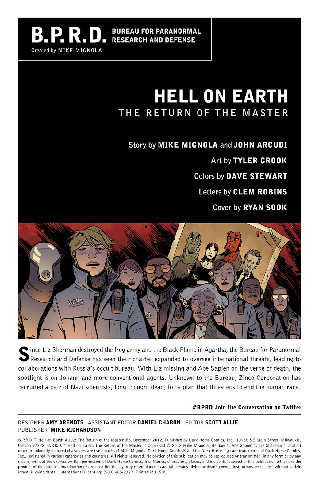 Read online B.P.R.D. Hell on Earth: The Return of the Master comic -  Issue #5 - 2
