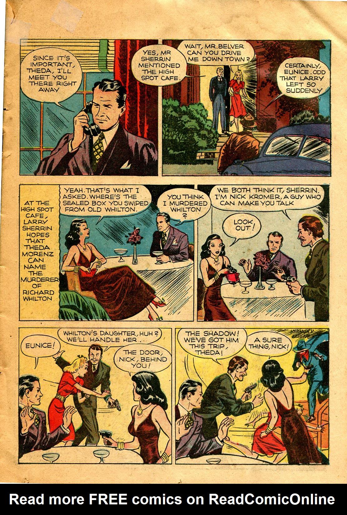Read online Shadow Comics comic -  Issue #9 - 19
