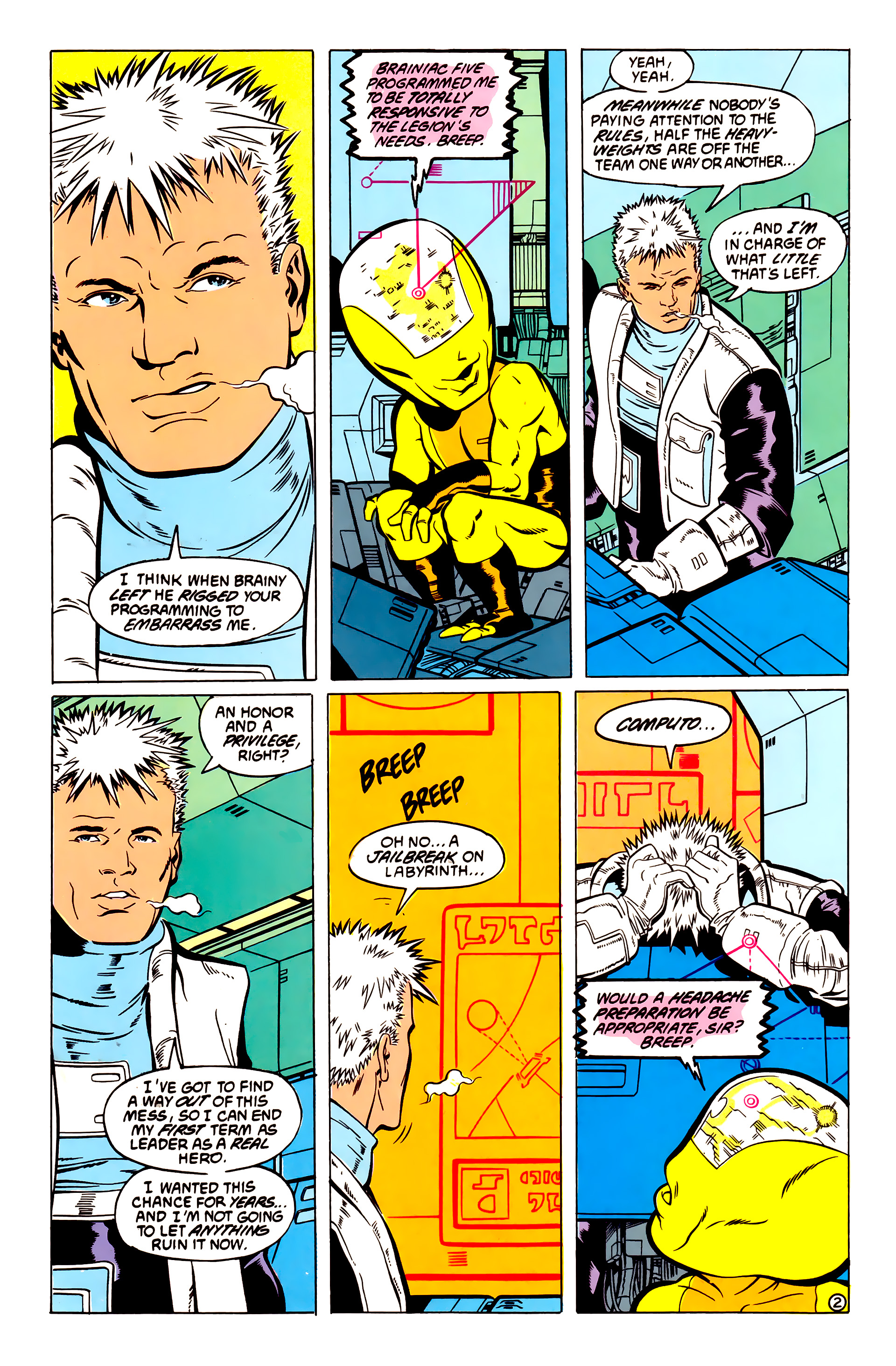 Legion of Super-Heroes (1984) 54 Page 2