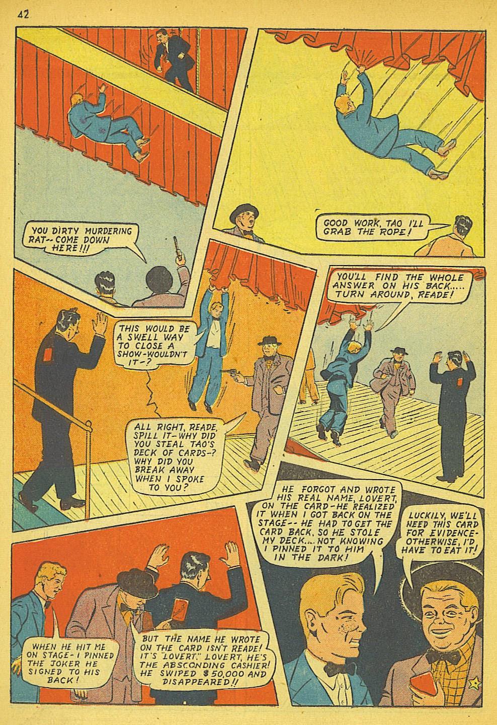 Read online Super-Magician Comics comic -  Issue #19 - 34