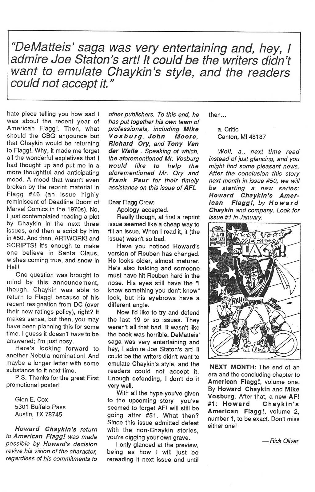 Read online American Flagg! comic -  Issue #49 - 34