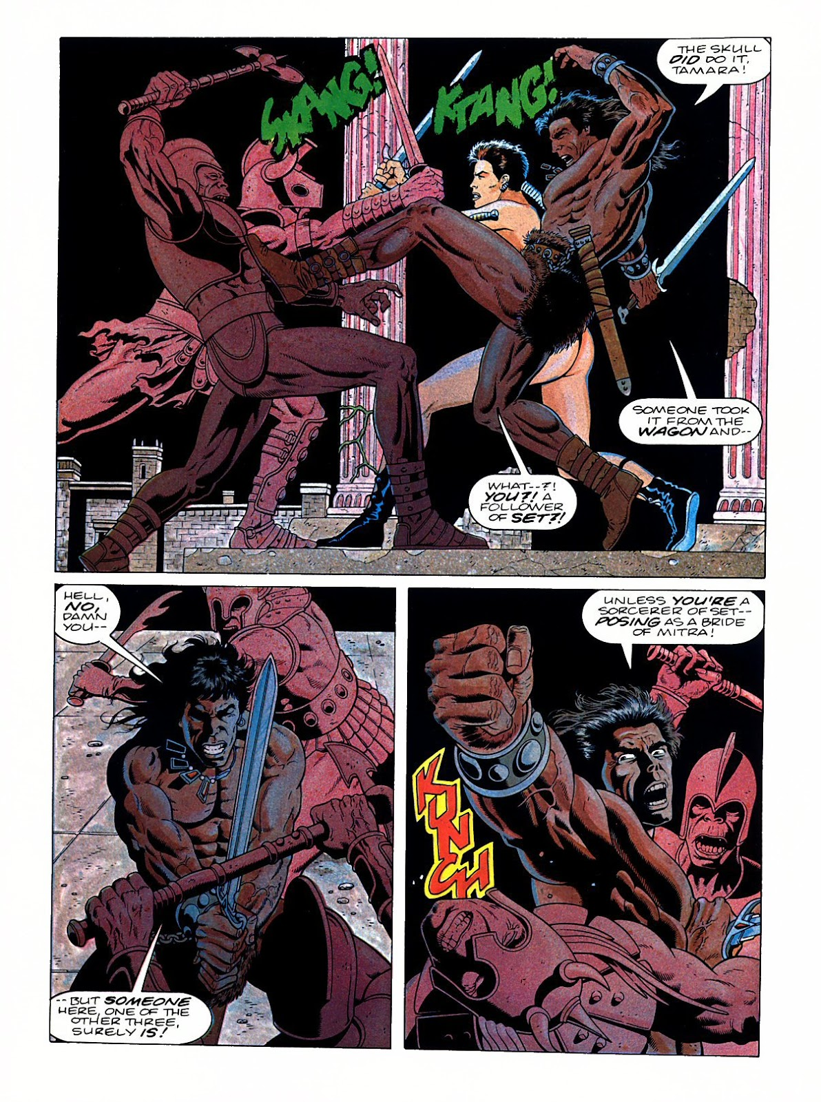 Read online Marvel Graphic Novel: Conan the Barbarian: The Skull of Set comic -  Issue # Full - 45