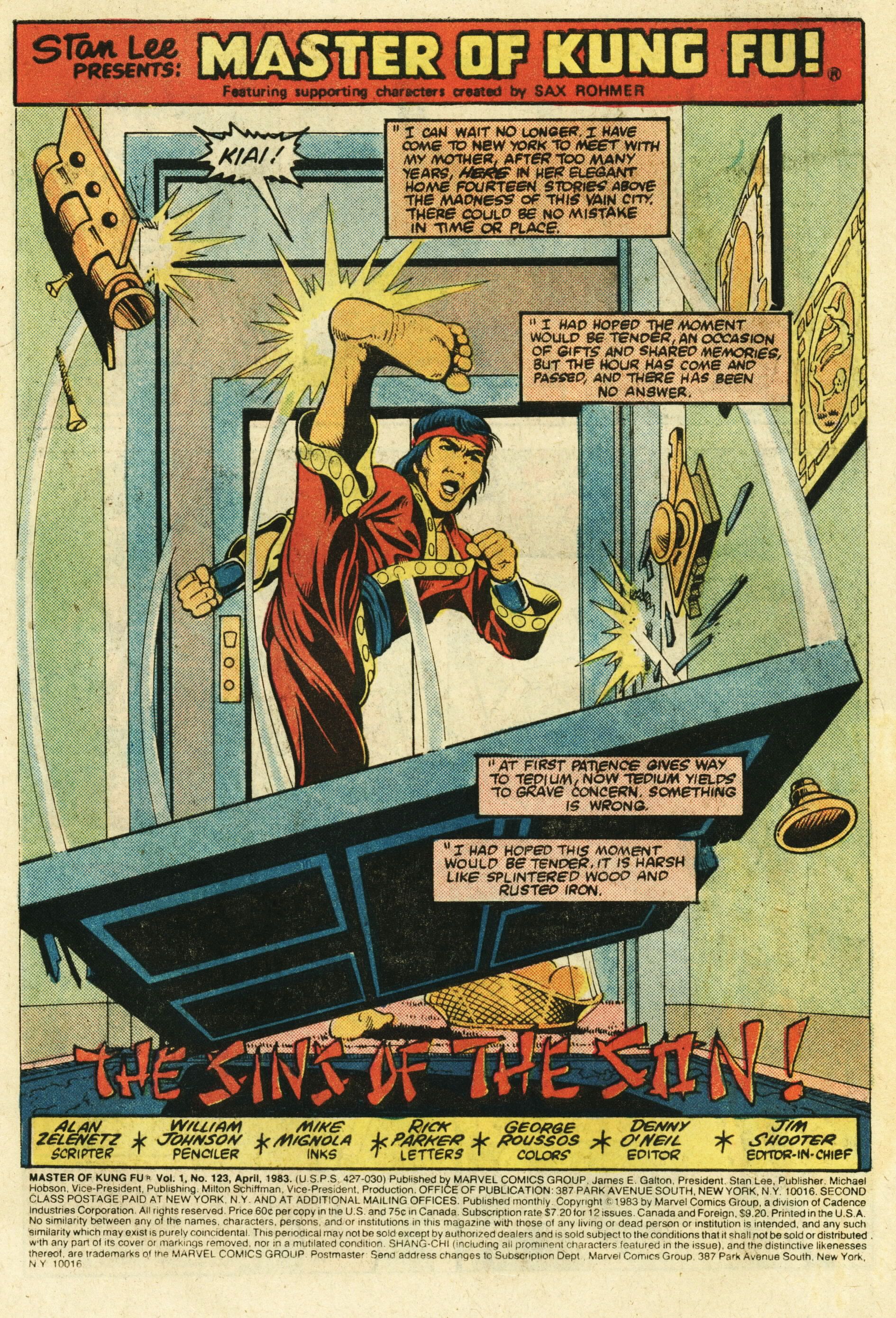 Read online Master of Kung Fu (1974) comic -  Issue #123 - 2