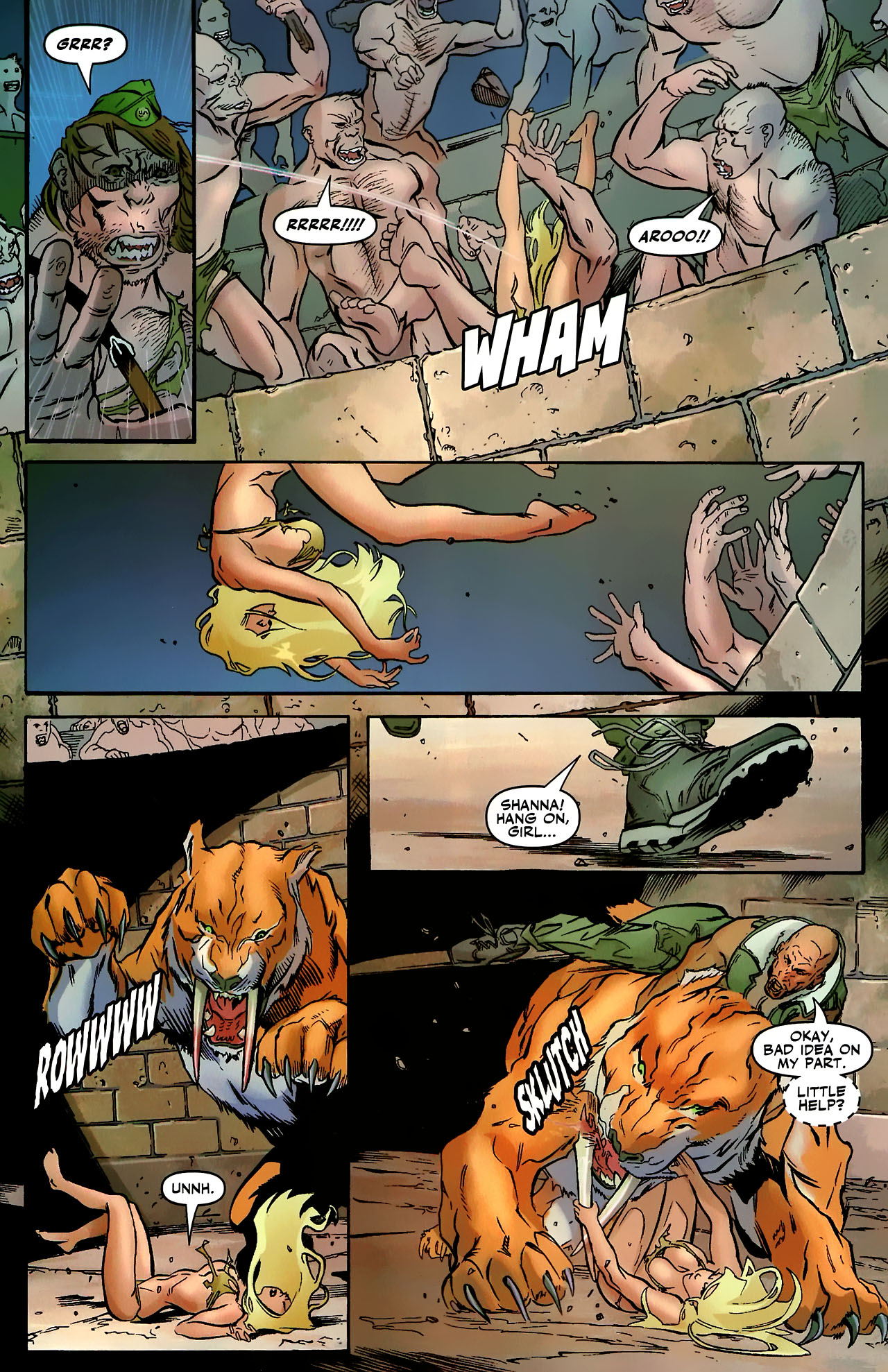Read online Shanna the She-Devil: Survival of the Fittest comic -  Issue #3 - 7