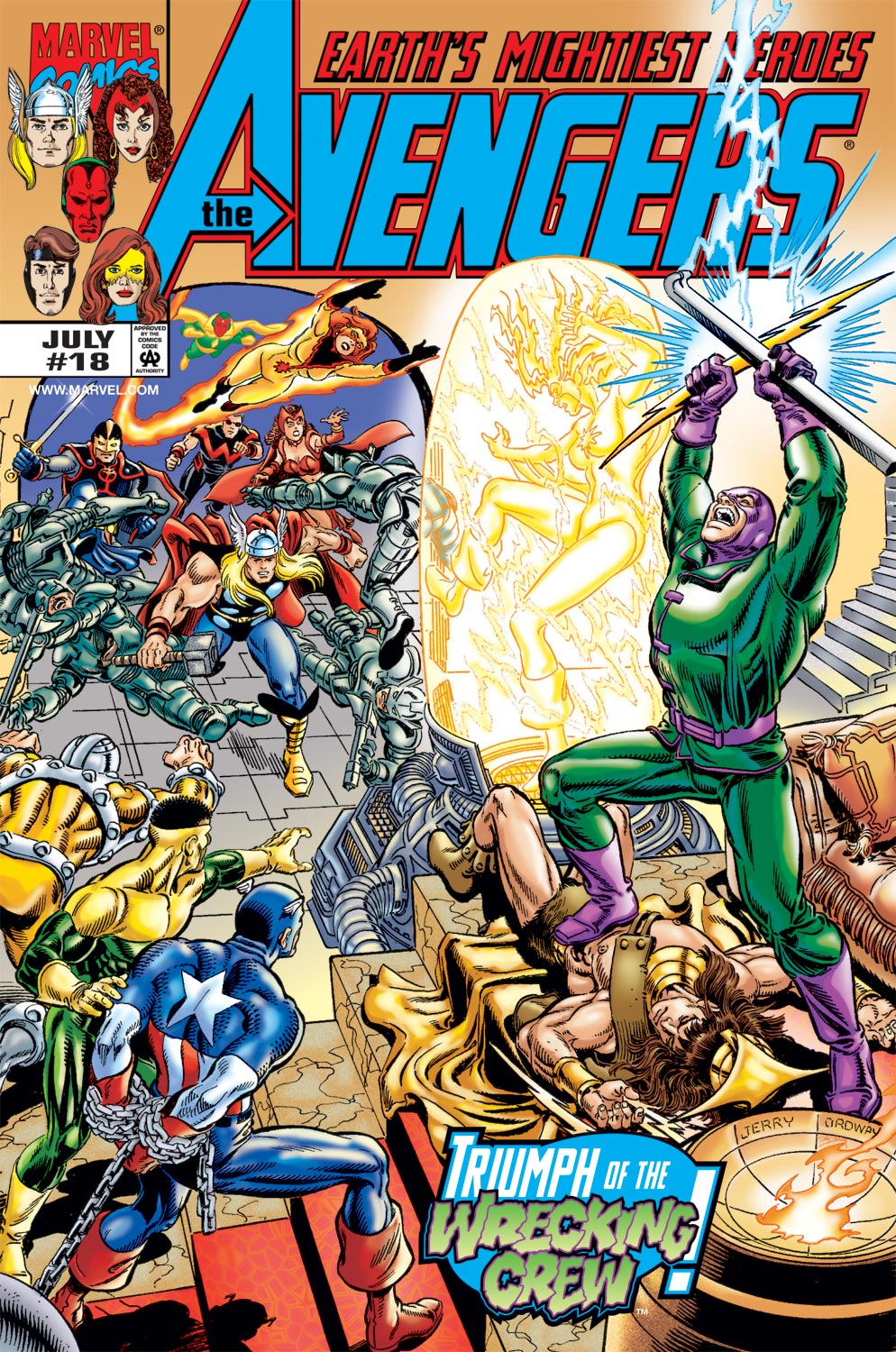 Read online Avengers (1998) comic -  Issue #18 - 1