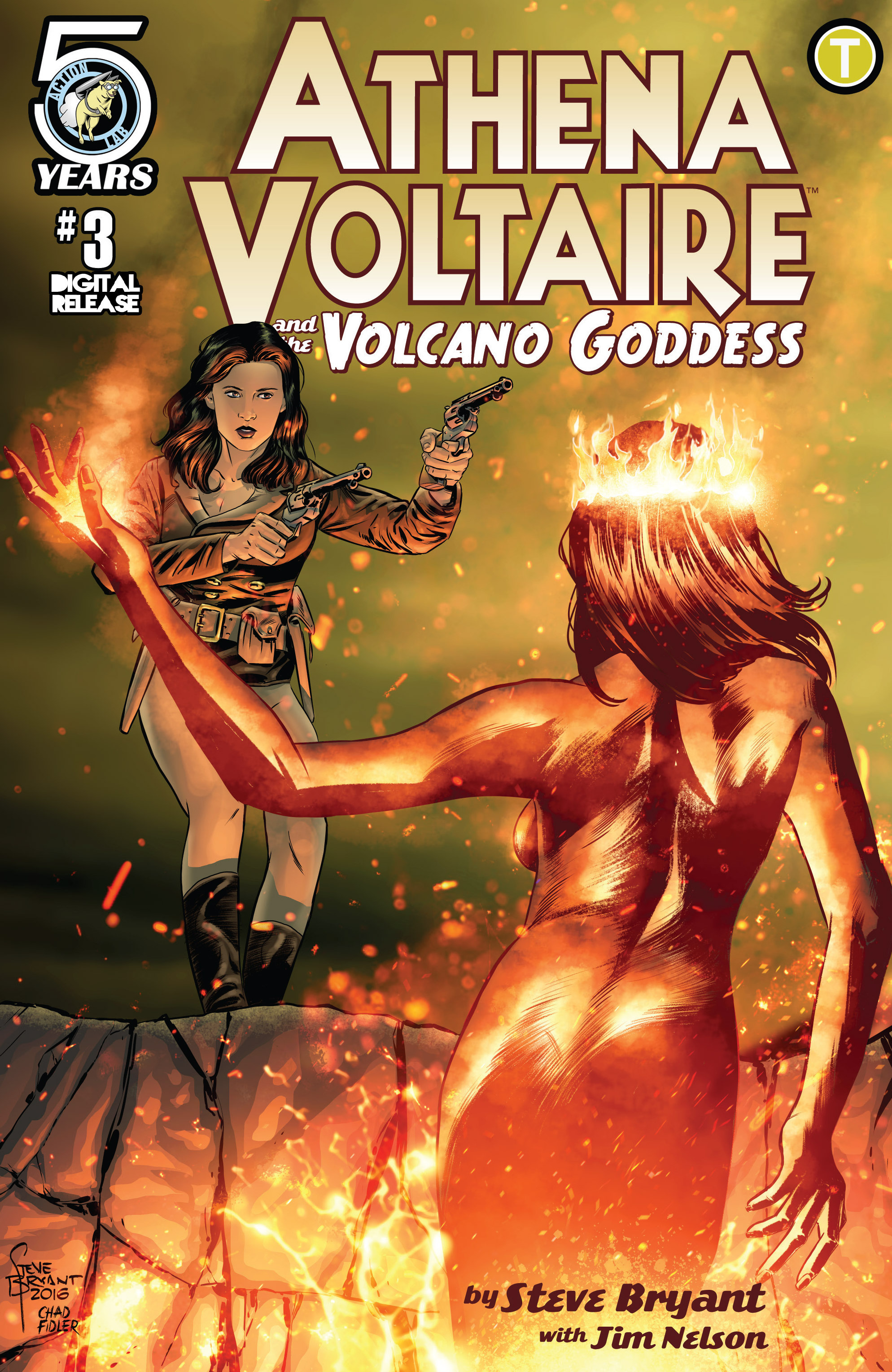 Read online Athena Voltaire and the Volcano Goddess comic -  Issue #3 - 1