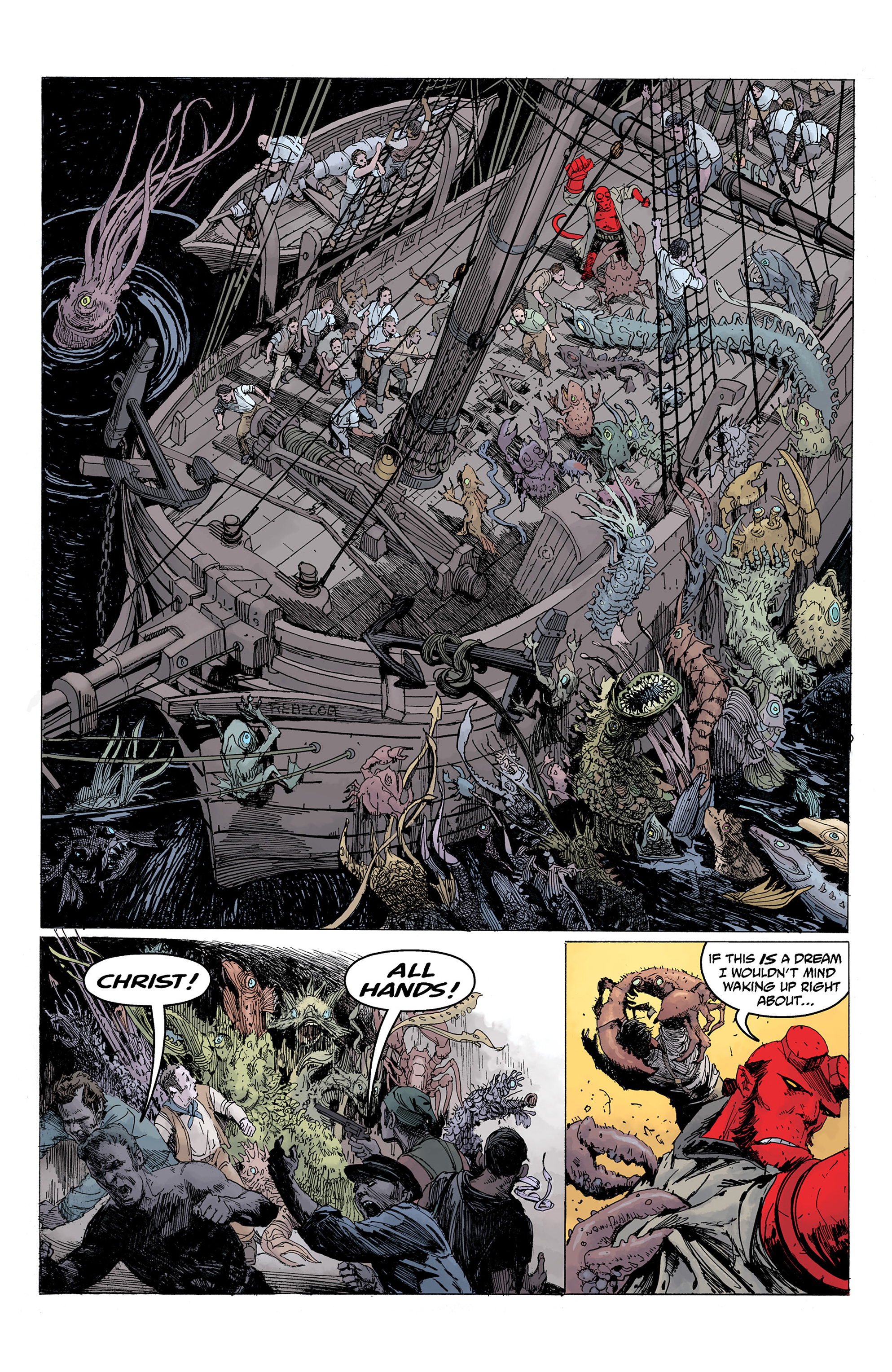 Read online Hellboy: Into the Silent Sea comic -  Issue # Full - 45