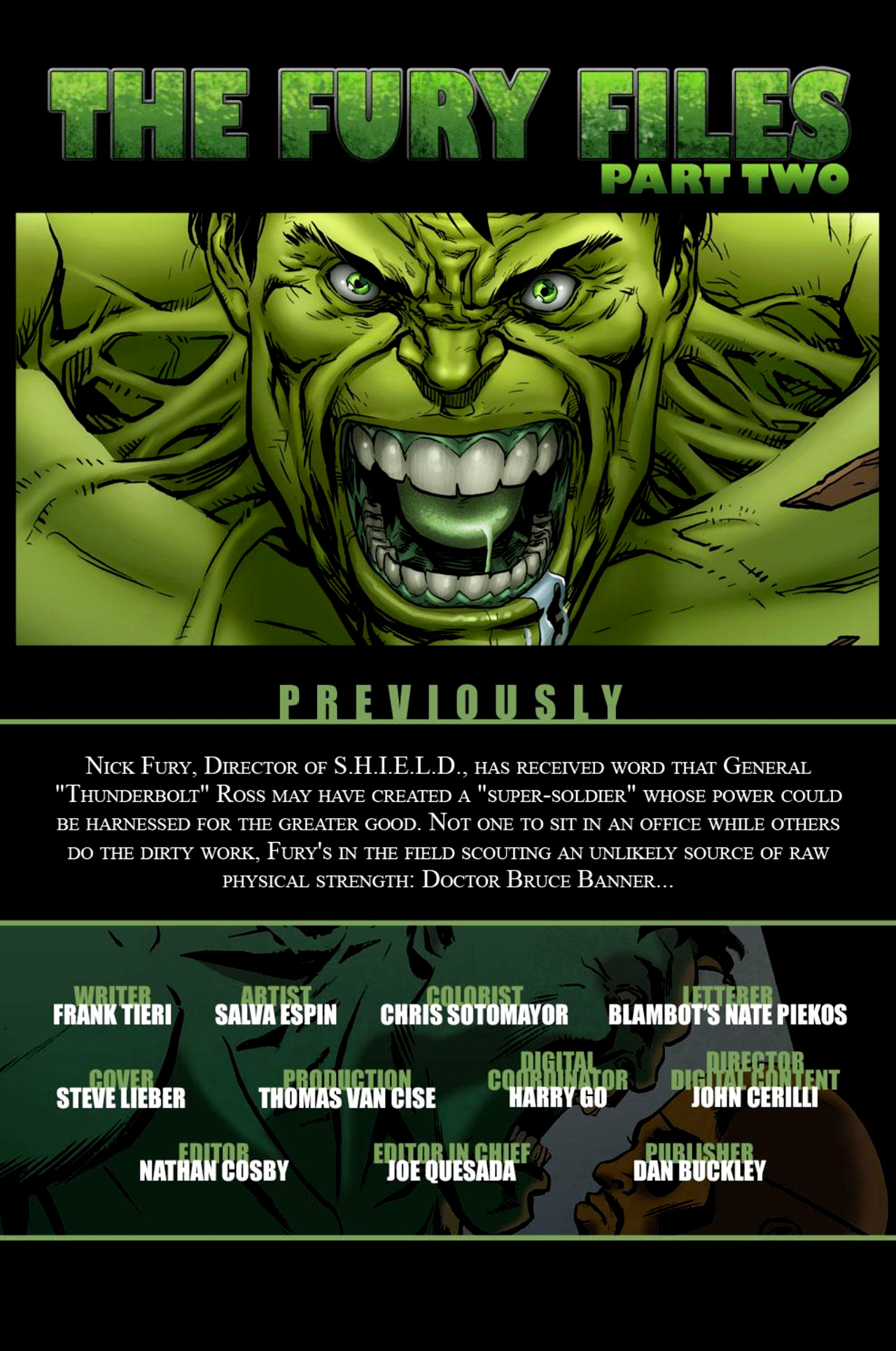Read online Incredible Hulk: The Fury Files comic -  Issue #2 - 2