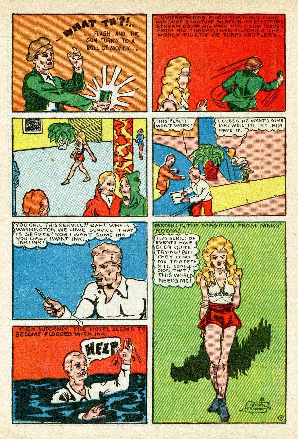 Read online Amazing Man Comics comic -  Issue #8 - 36