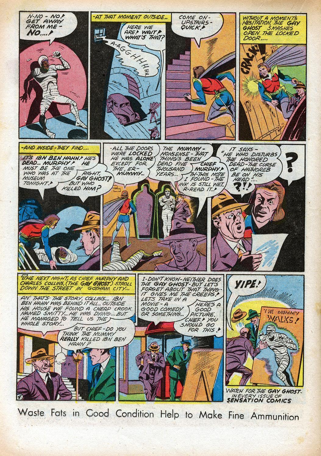 Read online Sensation (Mystery) Comics comic -  Issue #33 - 30