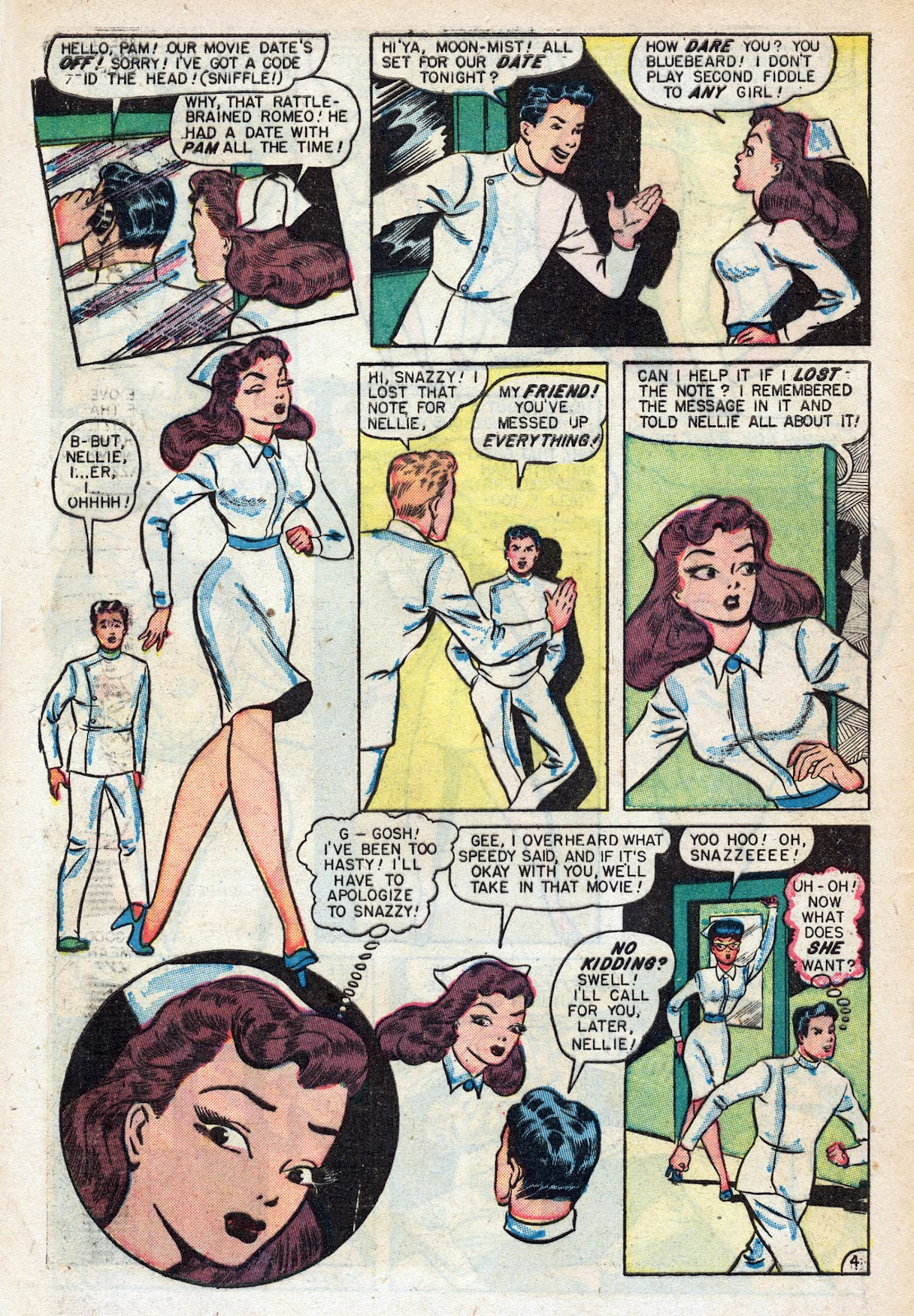 Read online Nellie The Nurse (1945) comic -  Issue #17 - 6