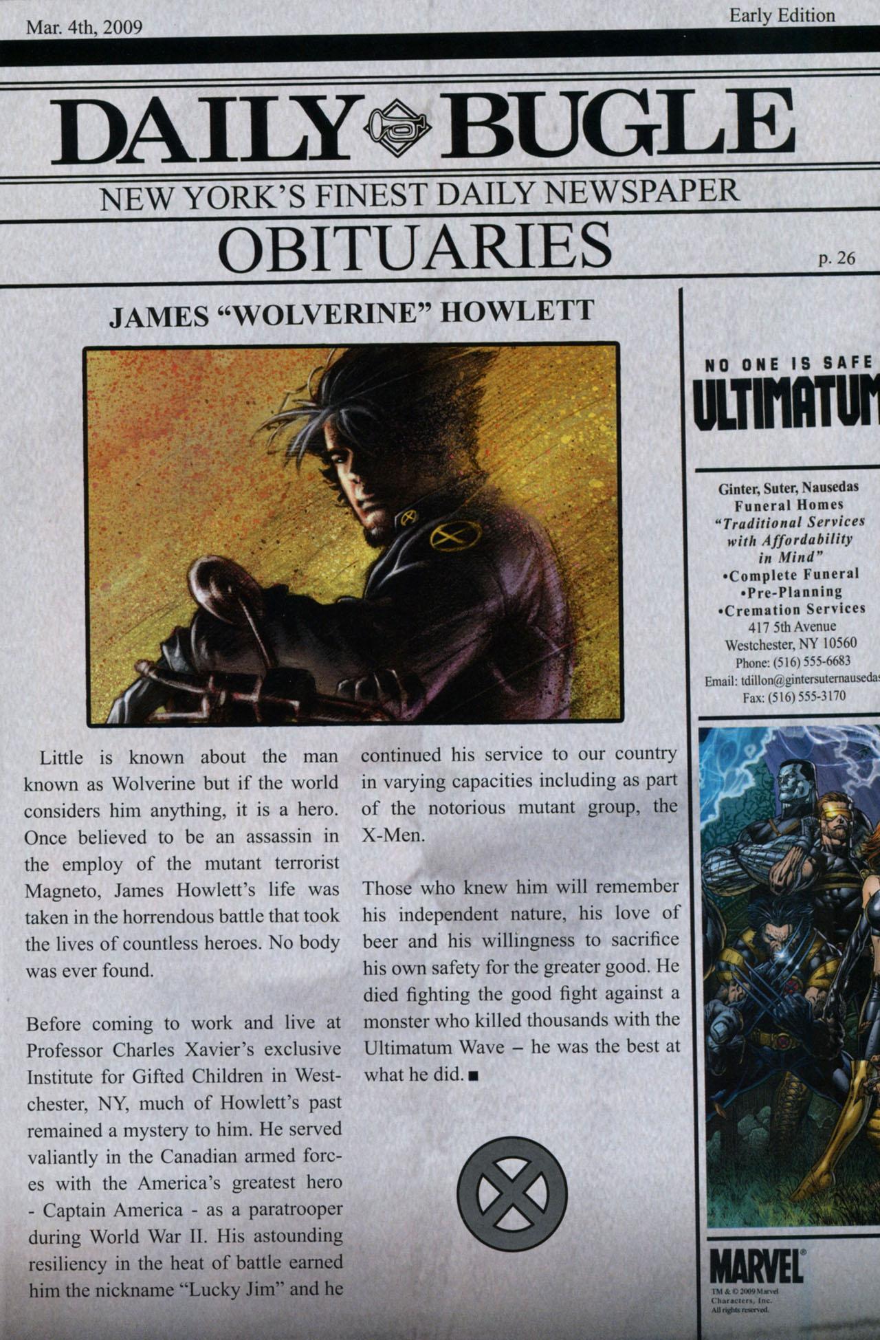 Read online Ultimatum: X-Men Requiem comic -  Issue # Full - 39