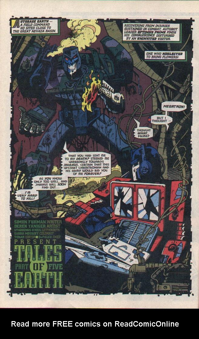 Read online Transformers: Generation 2 comic -  Issue #8 - 4