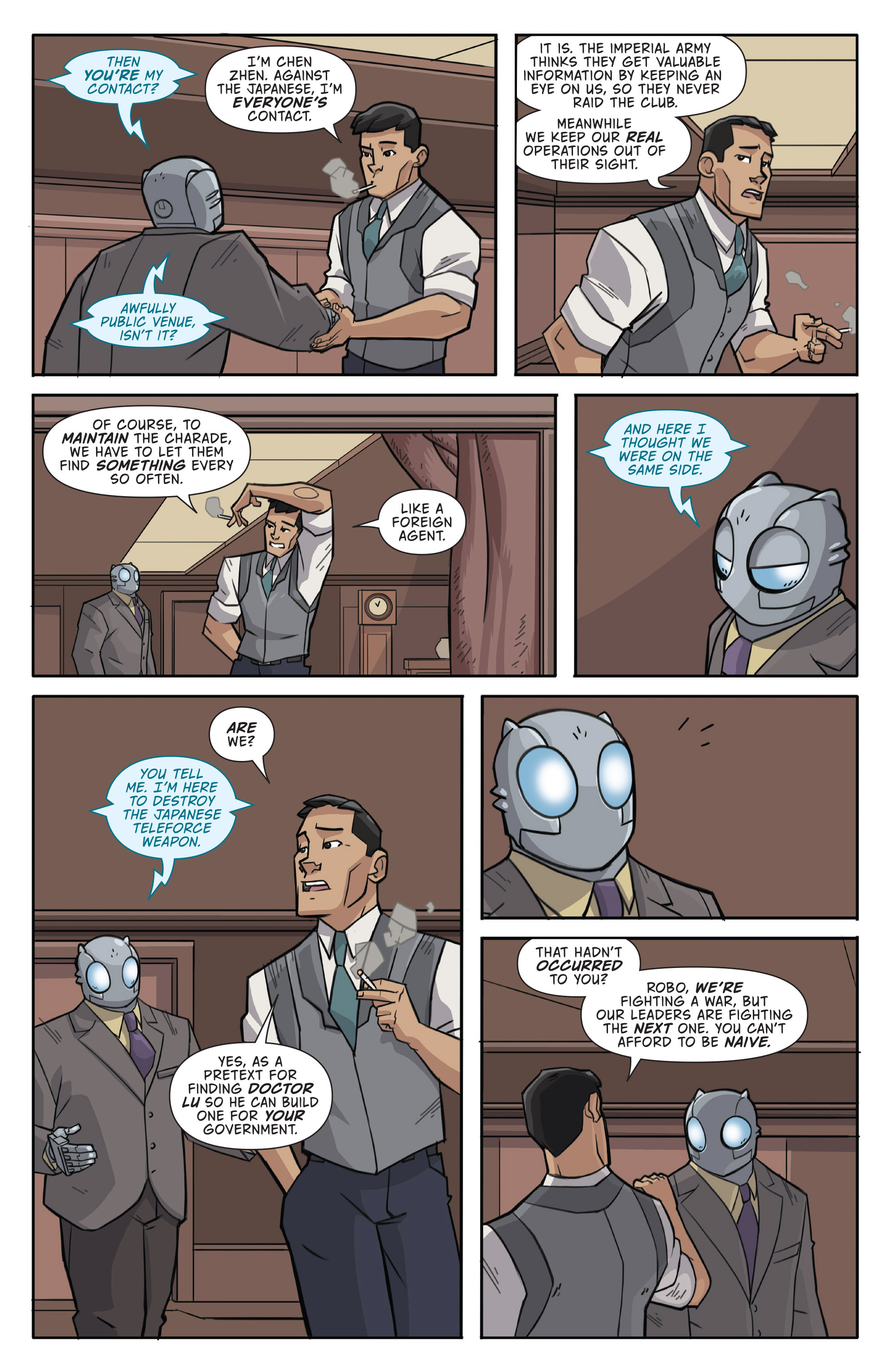 Read online Atomic Robo and the Temple of Od comic -  Issue #1 - 15