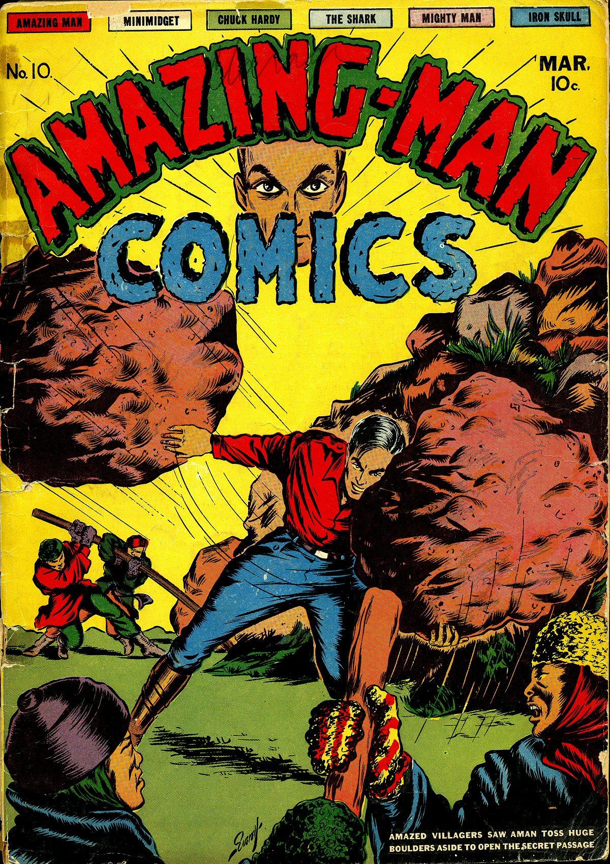 Read online Amazing Man Comics comic -  Issue #10 - 2