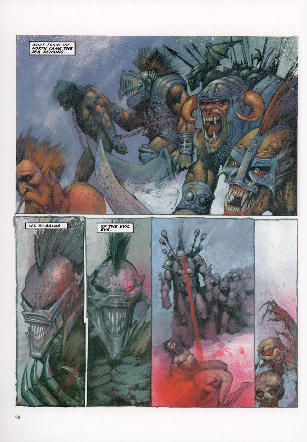 Read online Slaine: The Horned God (1993) comic -  Issue #4 - 29