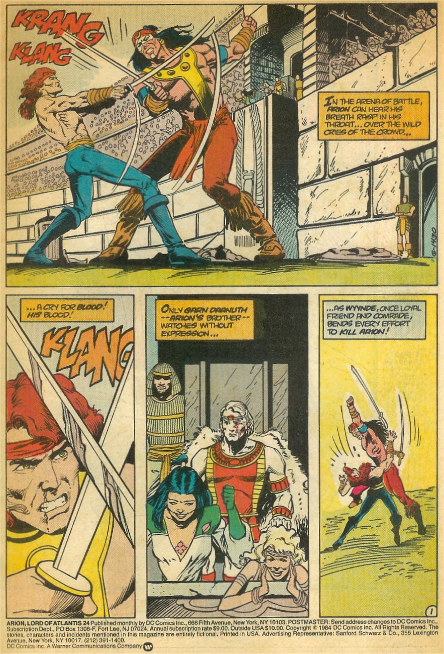 Read online Arion, Lord of Atlantis comic -  Issue #24 - 2