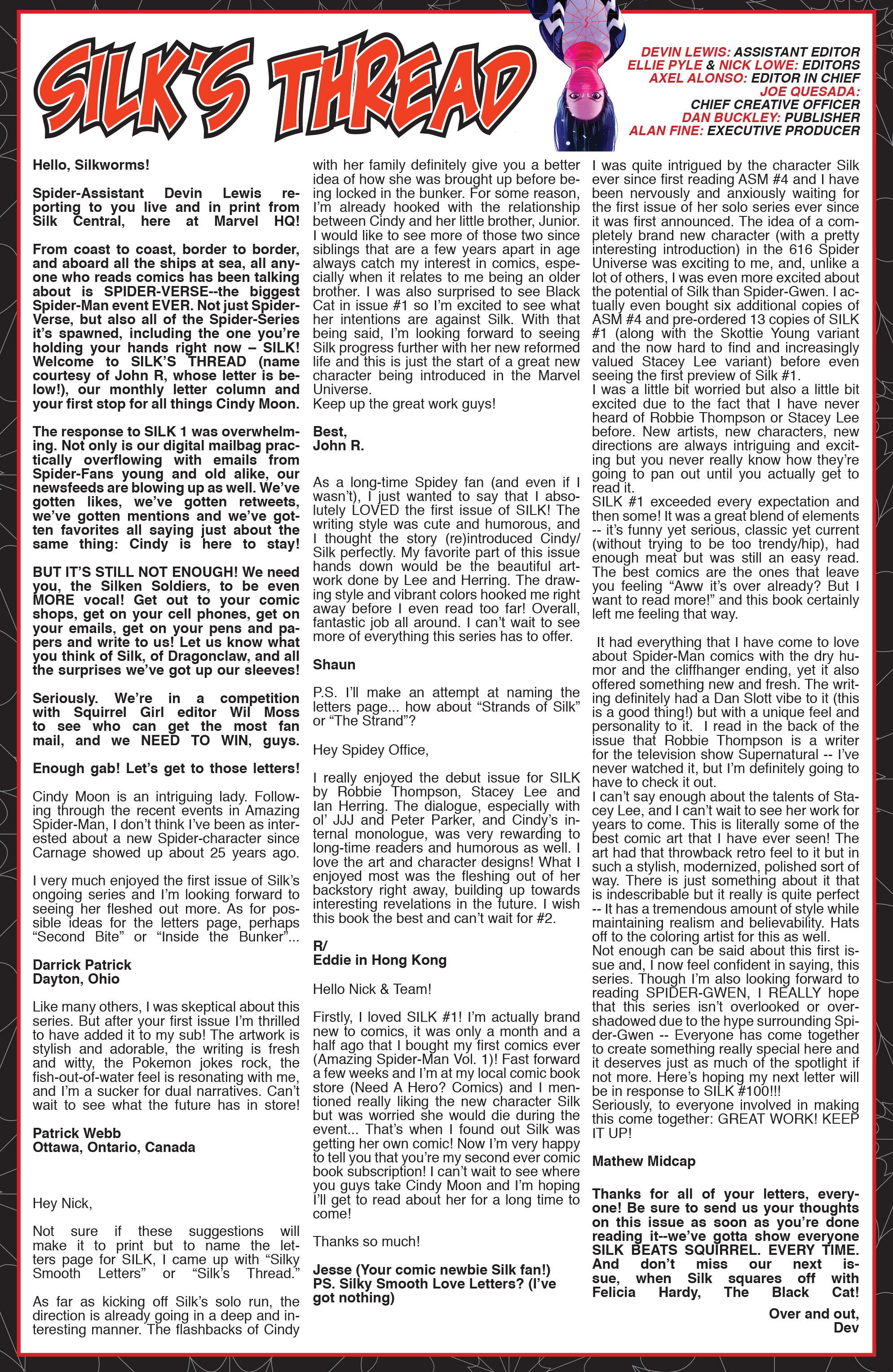 Read online Silk (2015) comic -  Issue #2 - 23