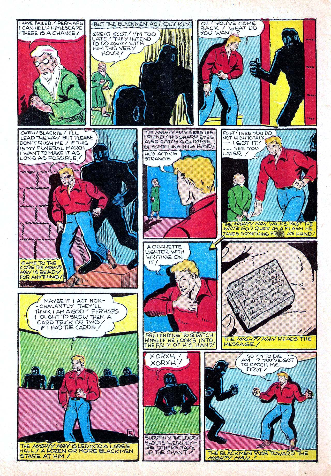 Read online Amazing Man Comics comic -  Issue #11 - 56