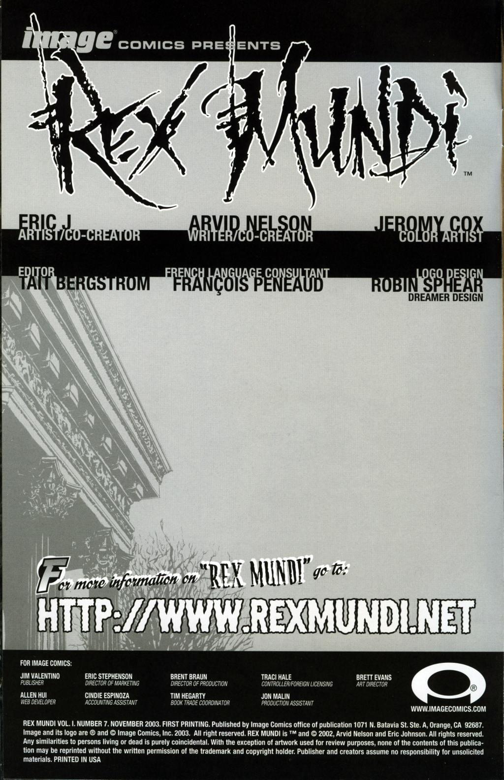 Read online Rex Mundi comic -  Issue #7 - 2