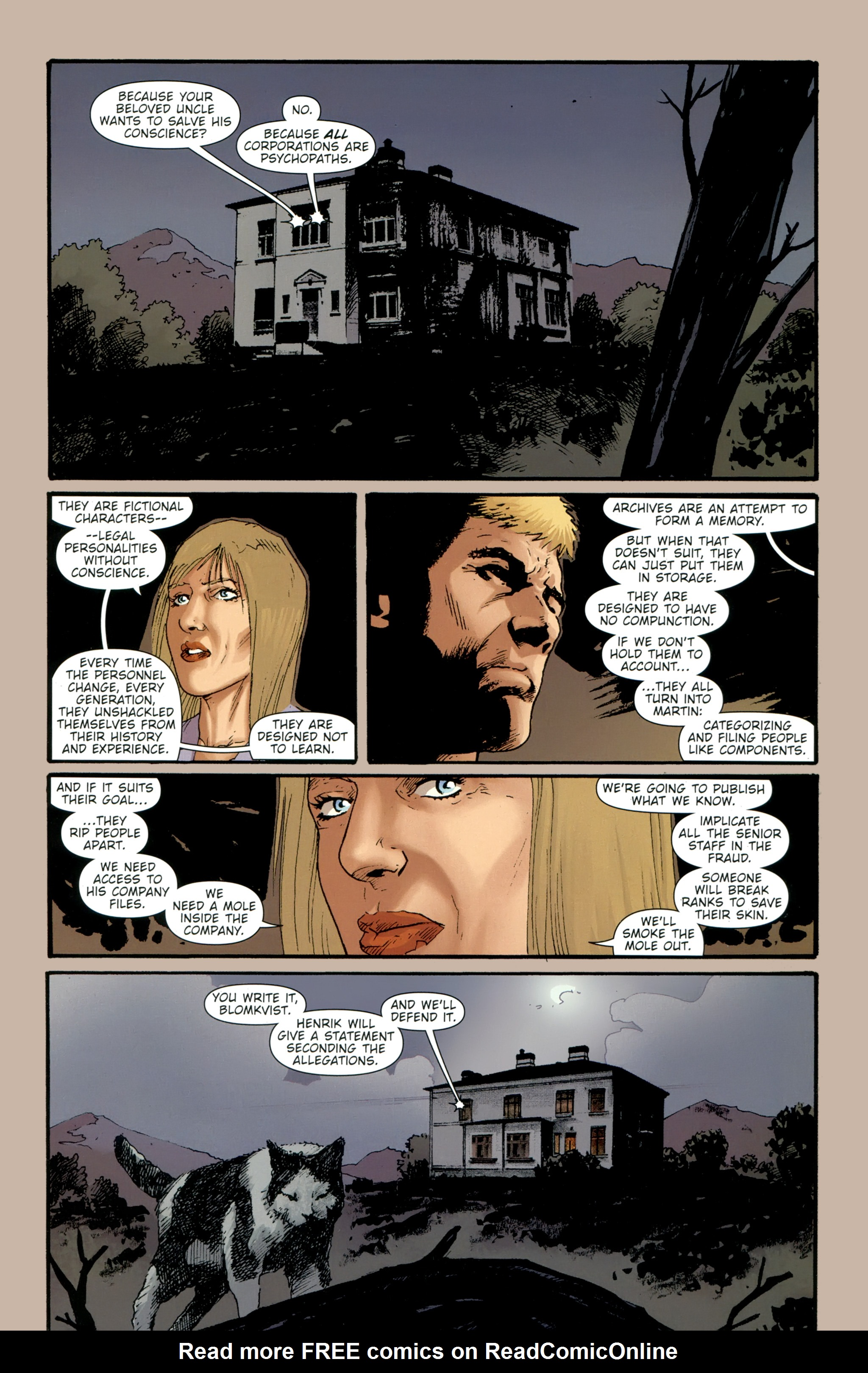 Read online The Girl With the Dragon Tattoo comic -  Issue # TPB 2 - 143