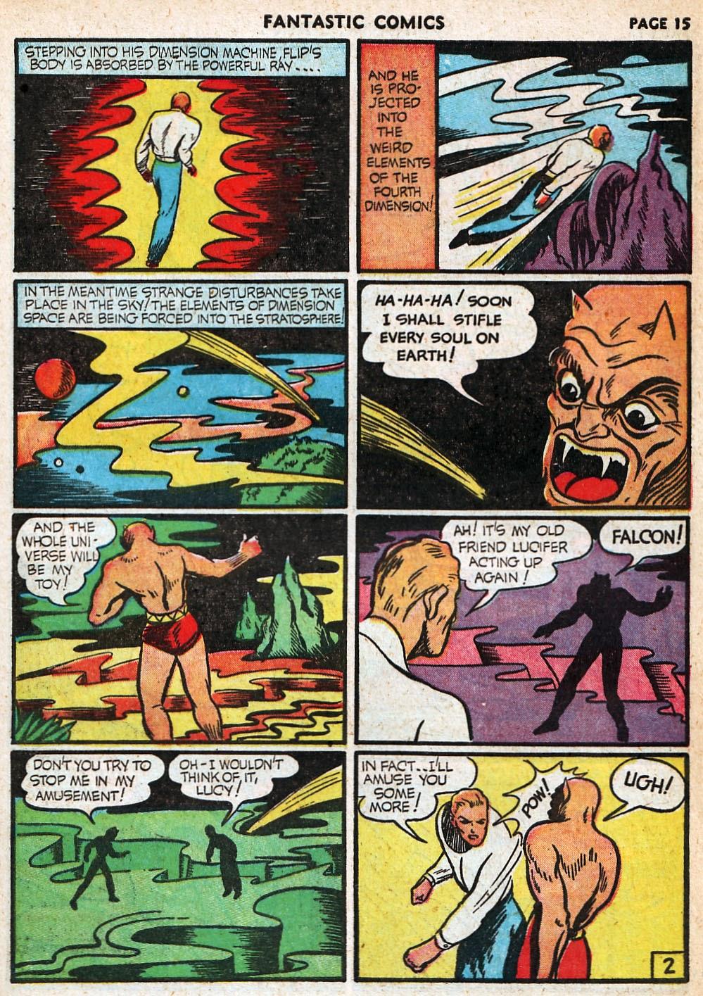 Read online Fantastic Comics comic -  Issue #20 - 16