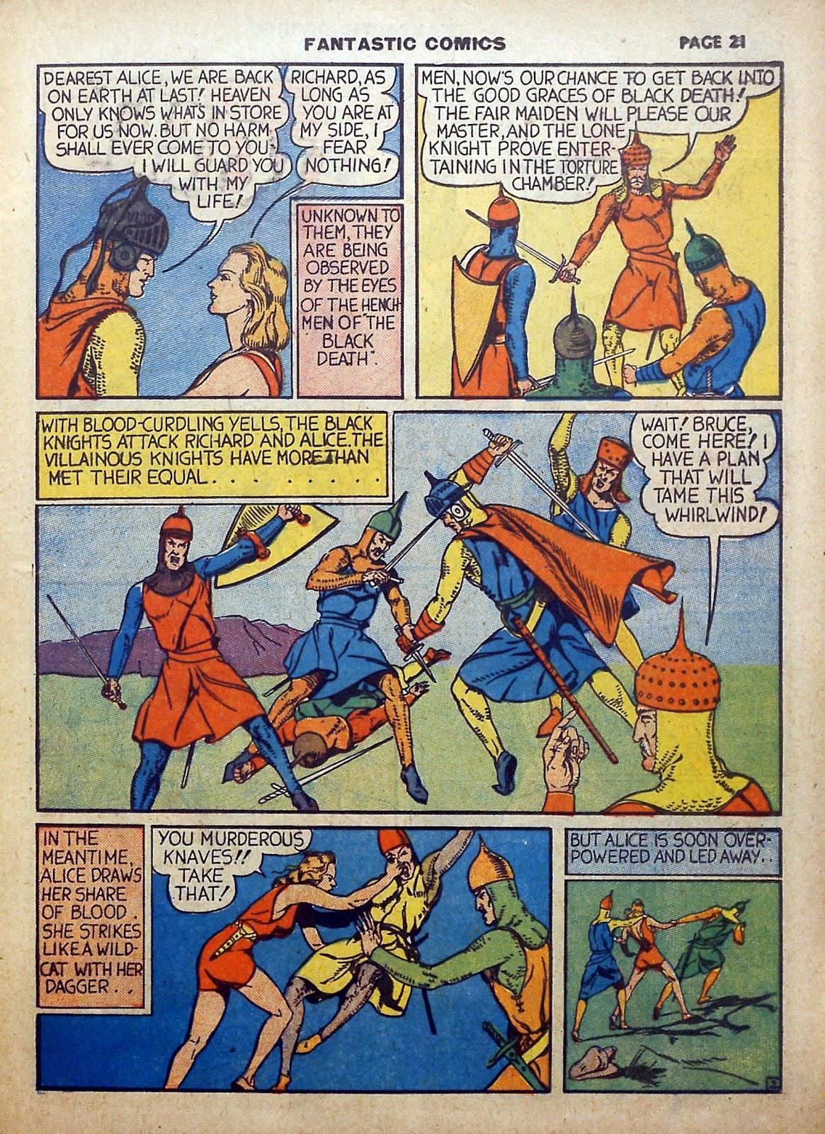 Read online Fantastic Comics comic -  Issue #5 - 22