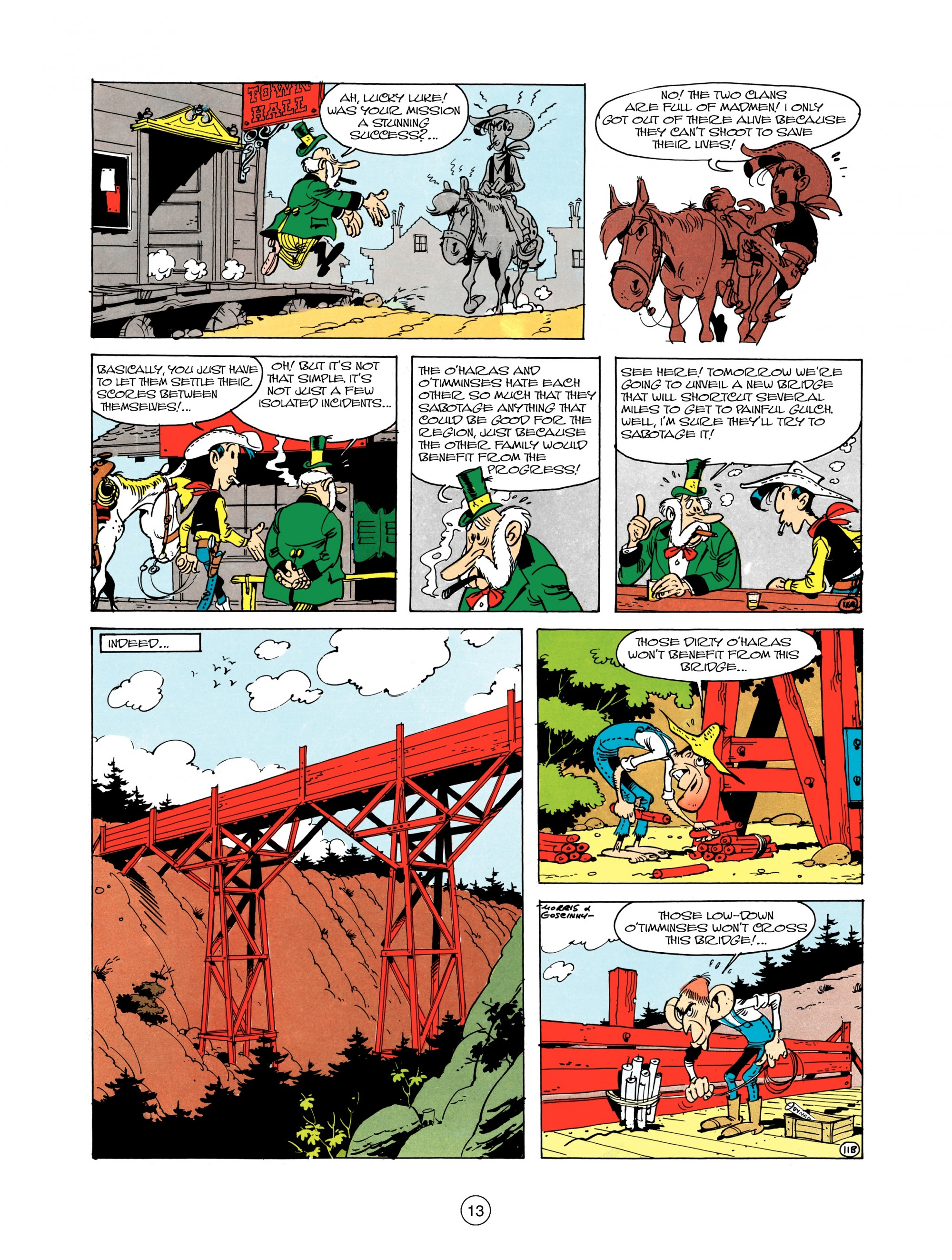 Read online A Lucky Luke Adventure comic -  Issue #12 - 13