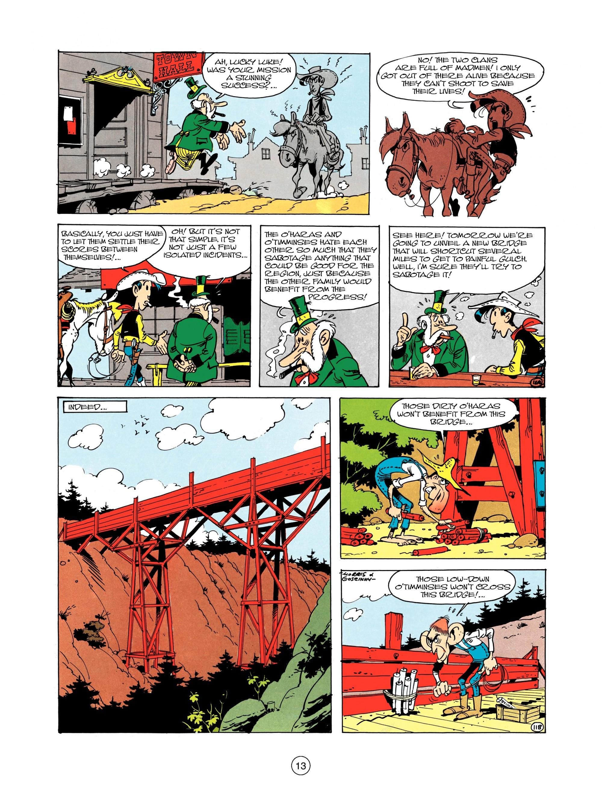 Read online A Lucky Luke Adventure comic -  Issue #12 - 13