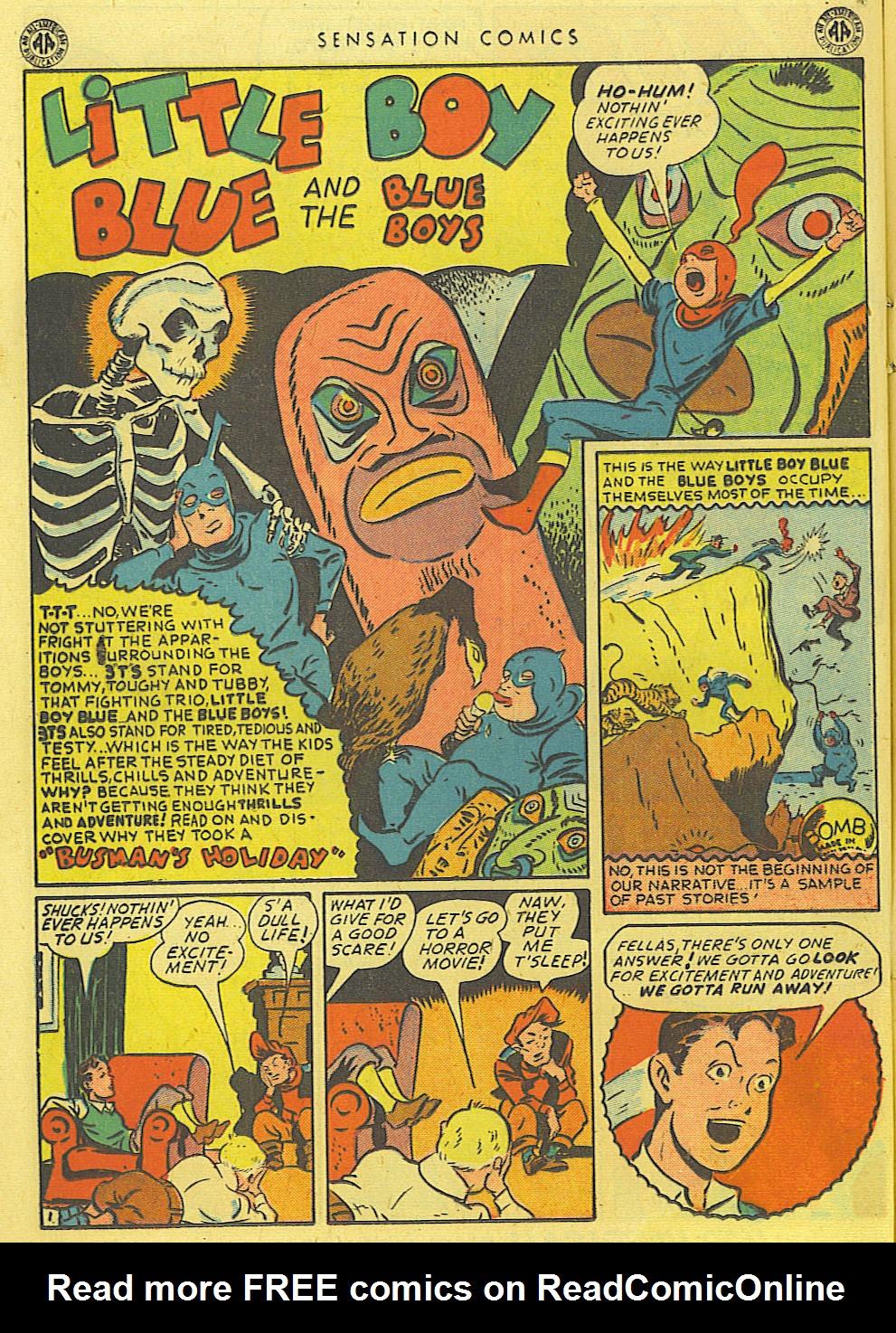 Read online Sensation (Mystery) Comics comic -  Issue #39 - 22