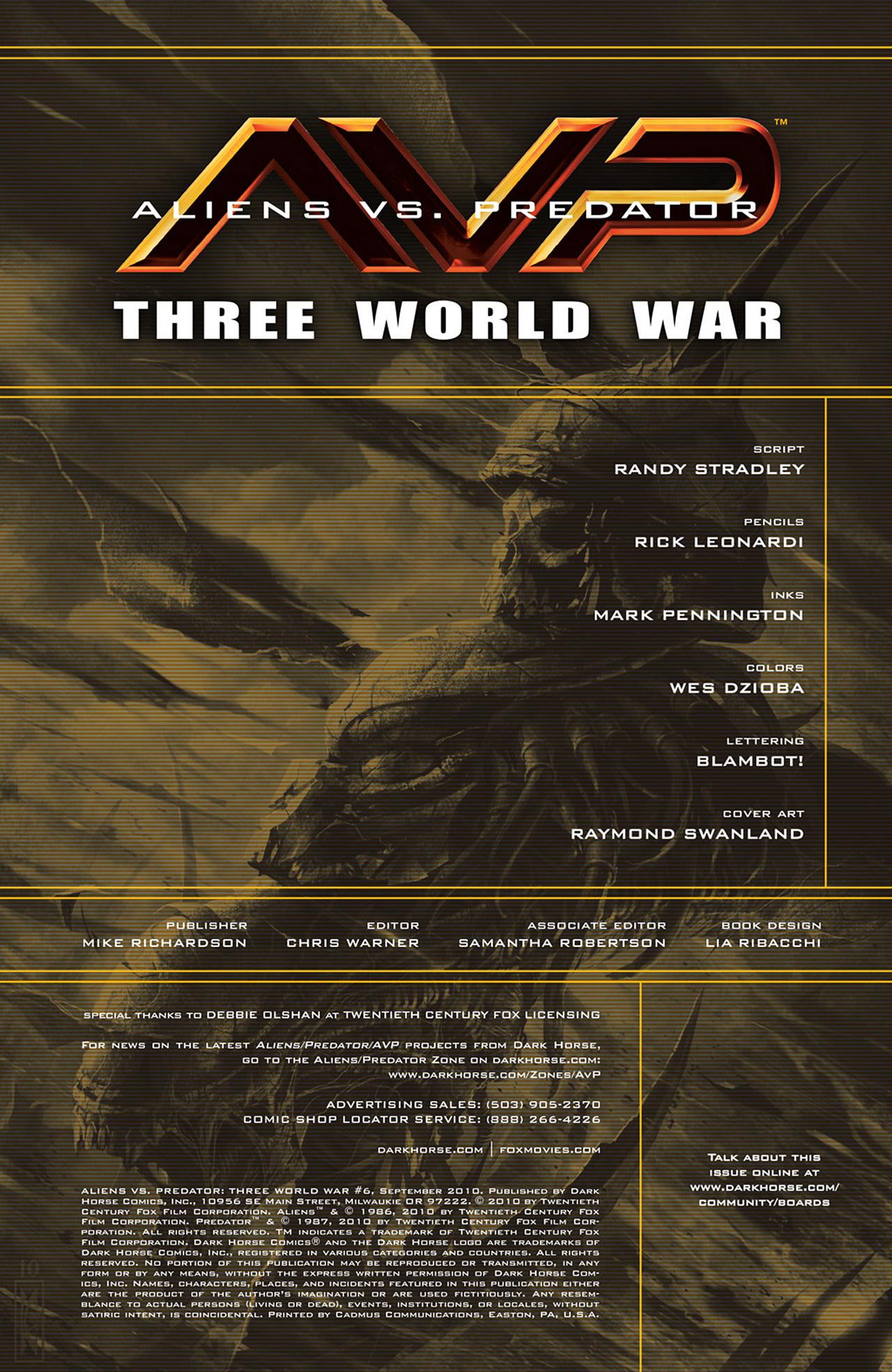 Read online Aliens vs. Predator: Three World War comic -  Issue #6 - 2