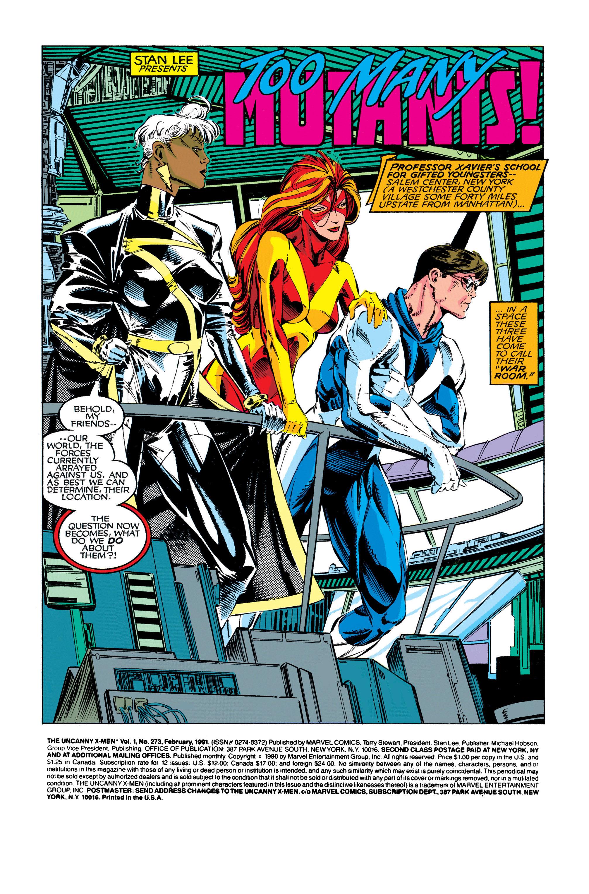 Read online Uncanny X-Men (1963) comic -  Issue #273 - 2