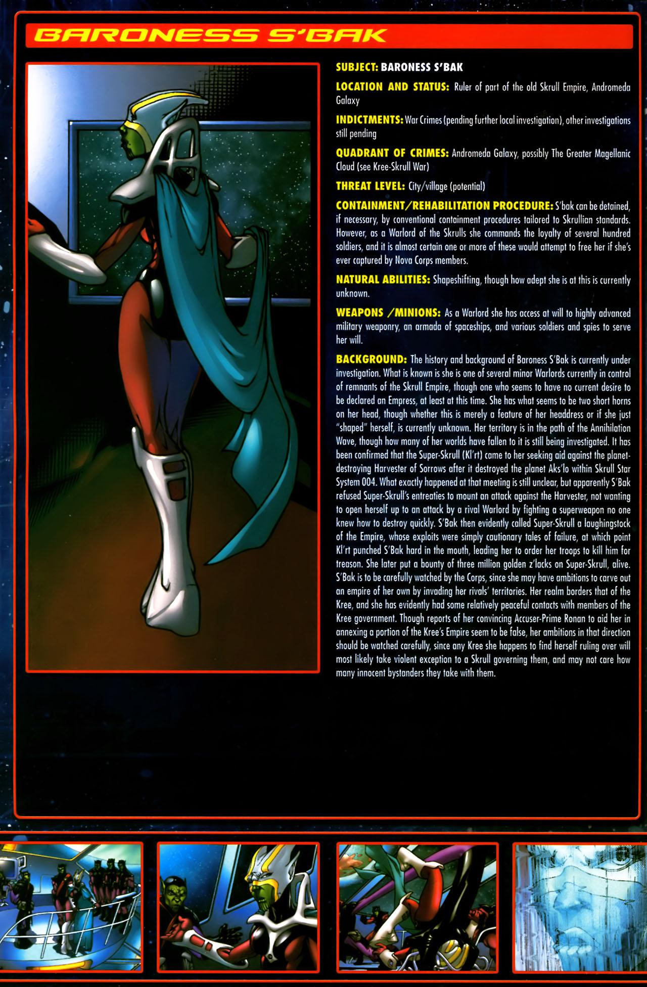 Read online Annihilation:  The  Nova Corps Files comic -  Issue #Annihilation:  The  Nova Corps Files Full - 6