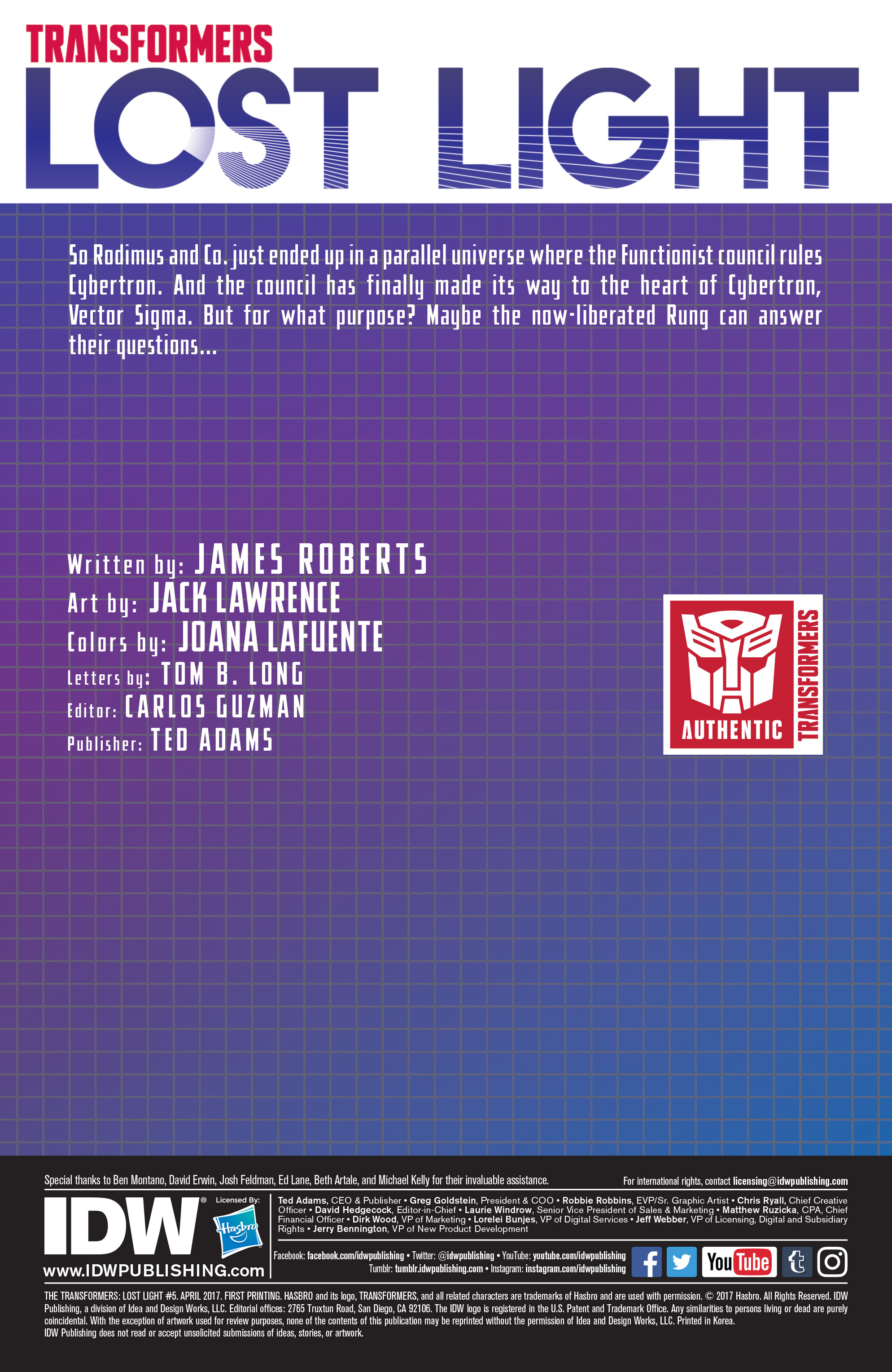 Read online Transformers: Lost Light comic -  Issue #5 - 2
