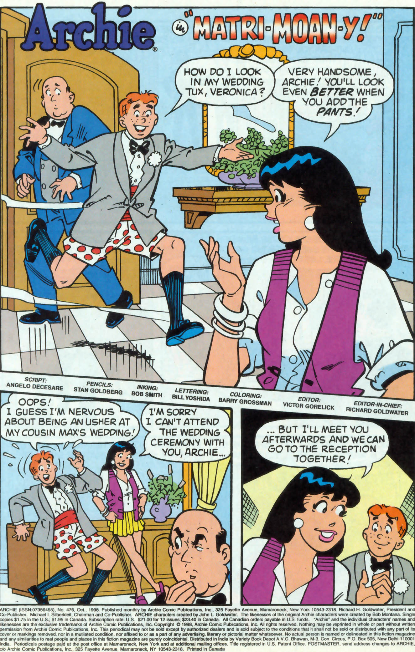 Read online Archie (1960) comic -  Issue #476 - 2