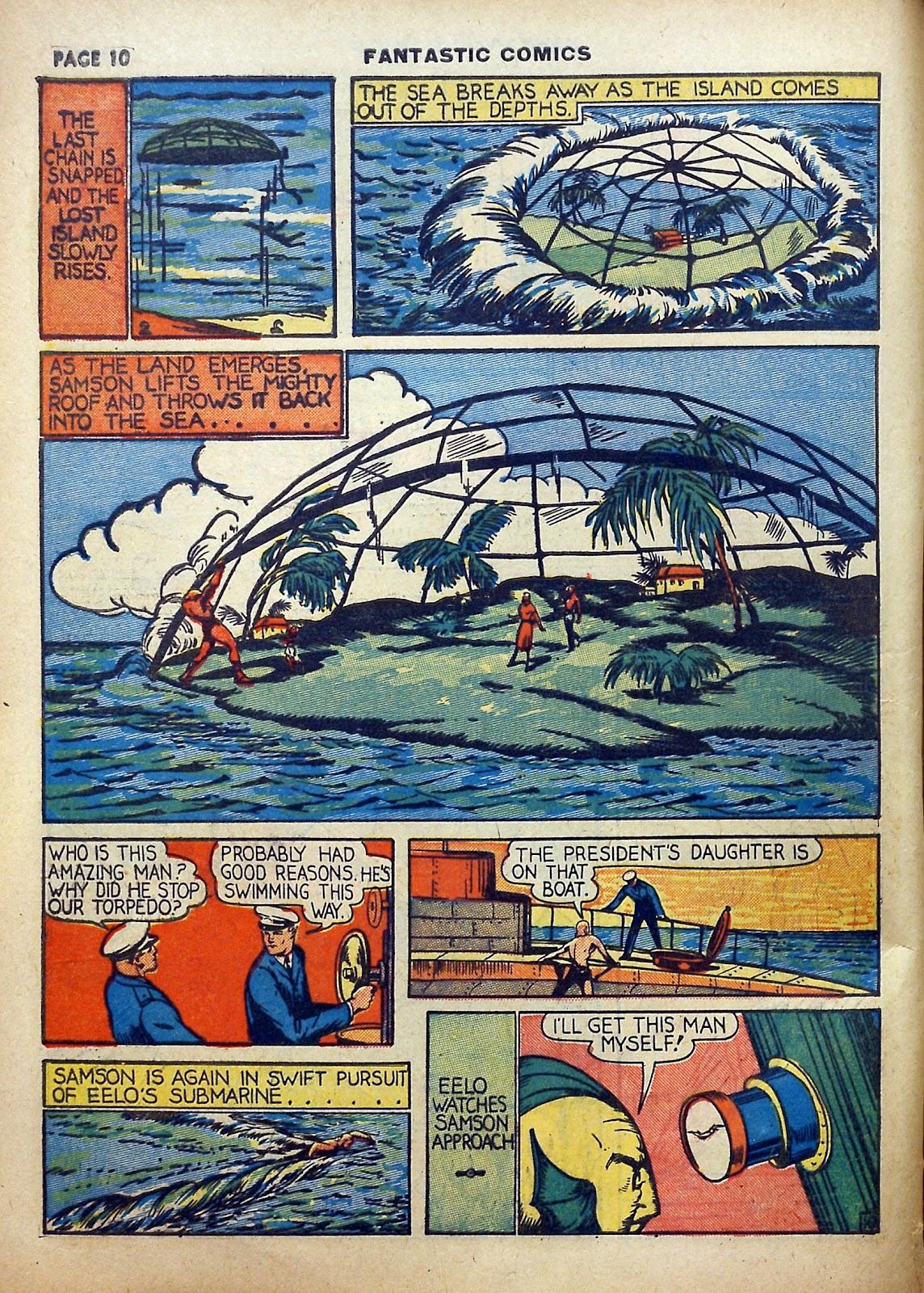 Read online Fantastic Comics comic -  Issue #5 - 11